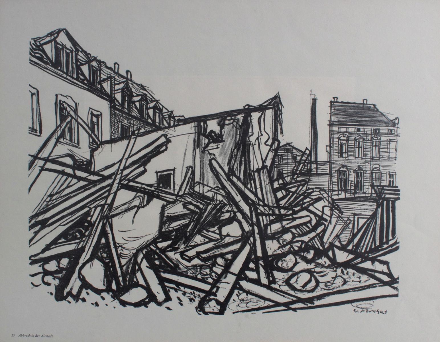 Werner Kornhas (1910-1992), 8 verschiedene Karlsruher Ansichten-2