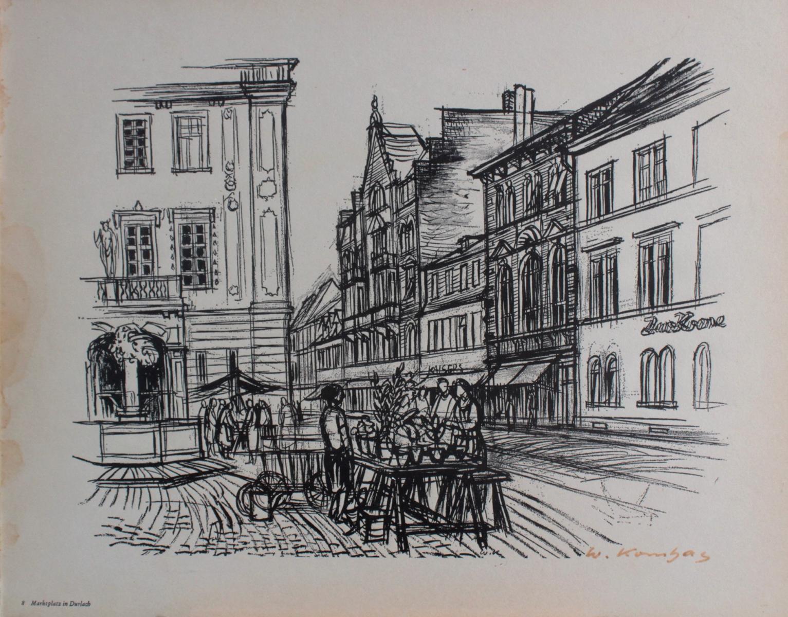 Werner Kornhas (1910-1992), 8 verschiedene Karlsruher Ansichten-3