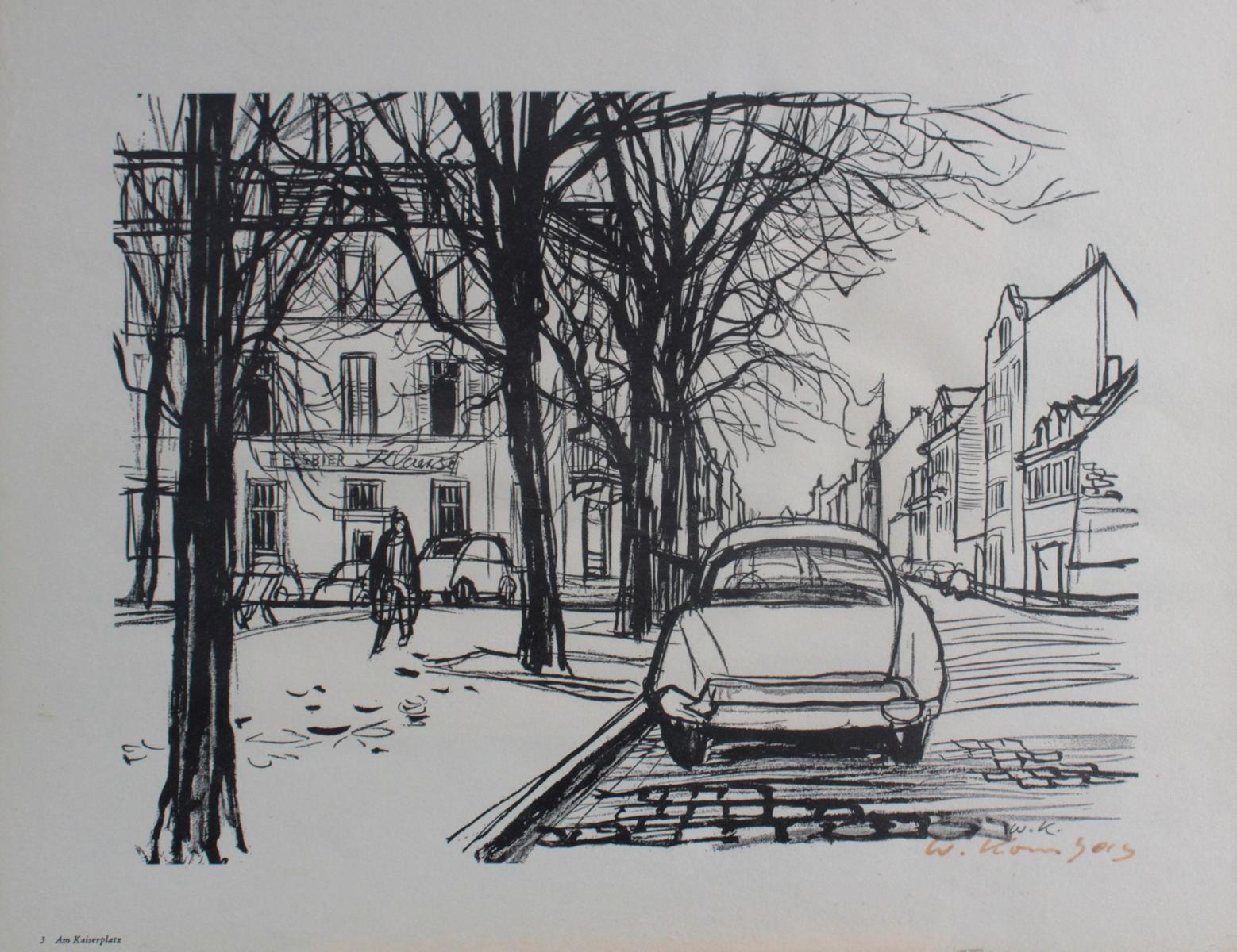 Werner Kornhas (1910-1992), 8 verschiedene Karlsruher Ansichten-6