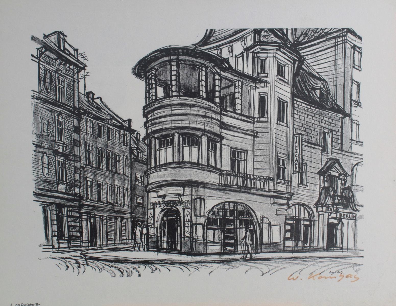 Werner Kornhas (1910-1992), 8 verschiedene Karlsruher Ansichten-7