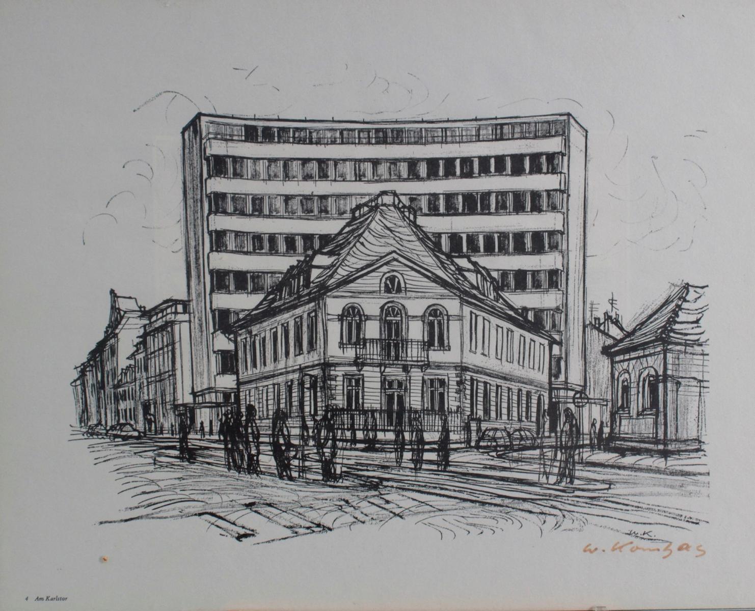 Werner Kornhas (1910-1992), 8 verschiedene Karlsruher Ansichten-8