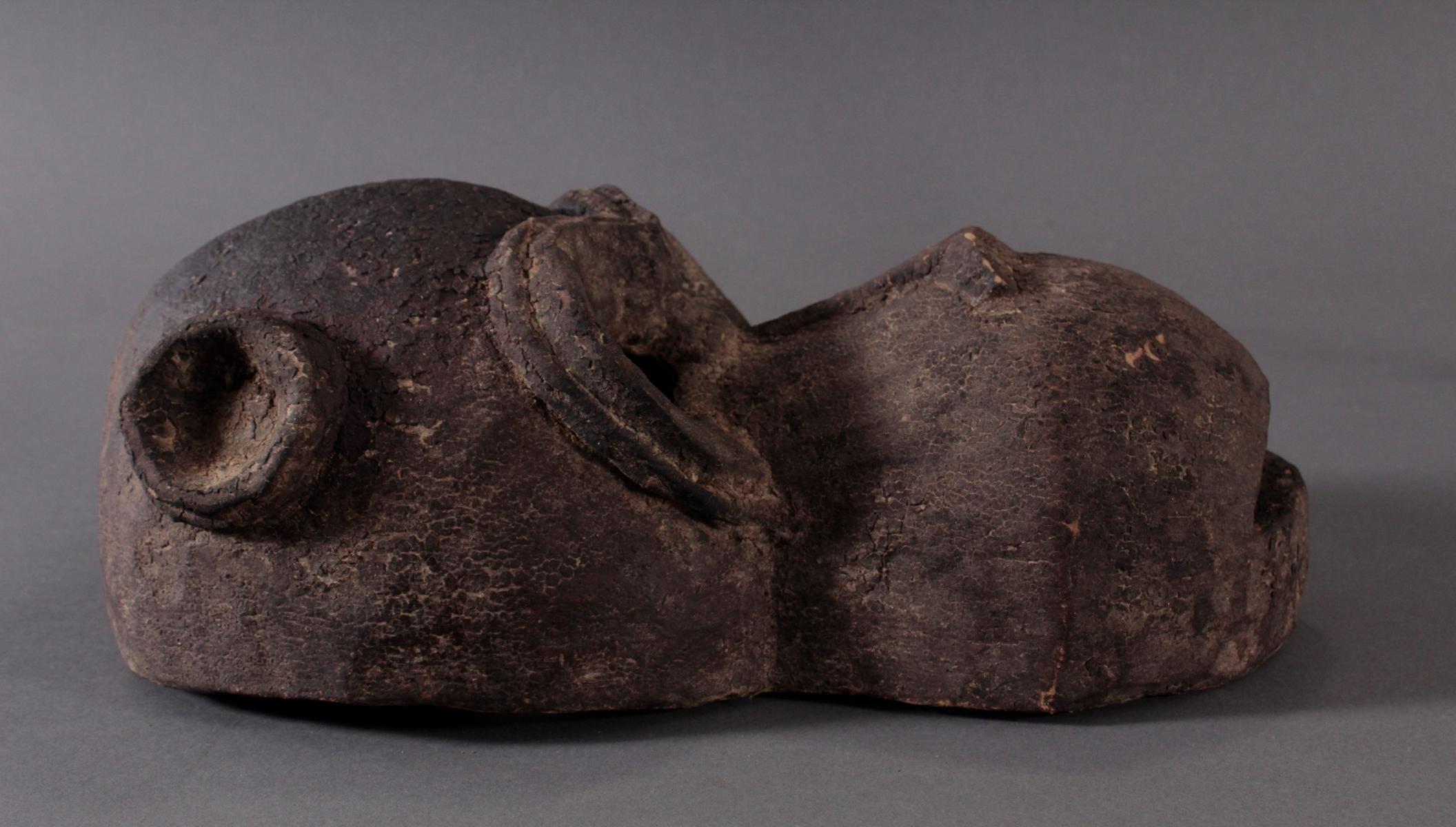 Antike große Zoomorphe Maske. Selten-2