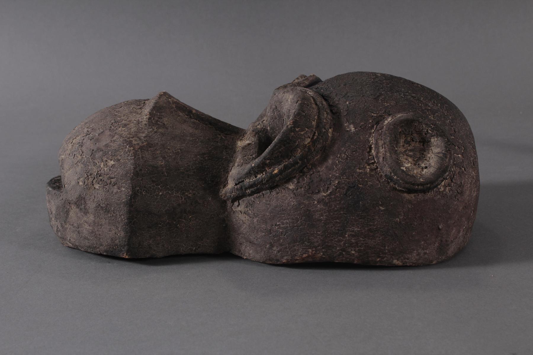 Antike große Zoomorphe Maske. Selten-3