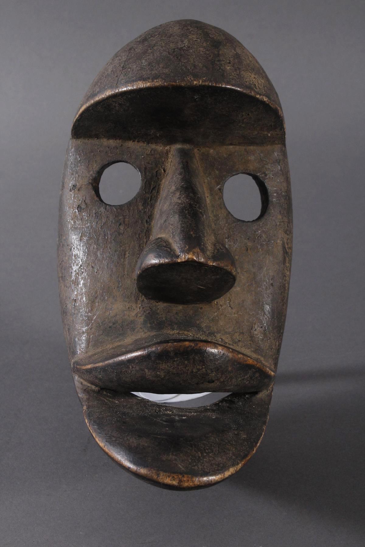 Antike Maske der Dan-Kran, Elfenbeinküste 1. Hälfte 20. Jh.