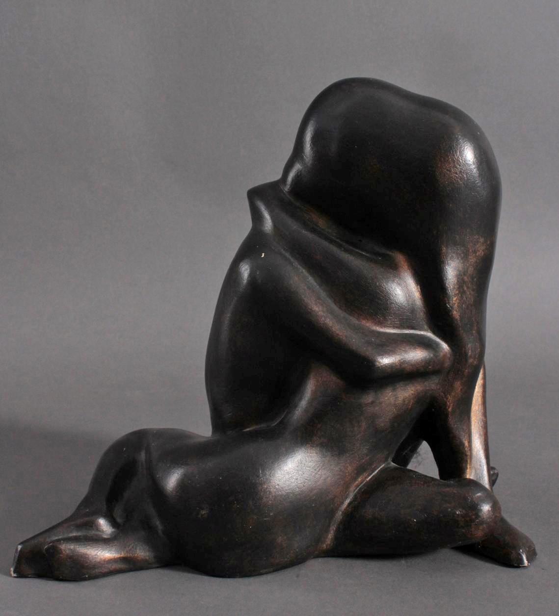 Skulptur, verschlungener Liebesakt-2