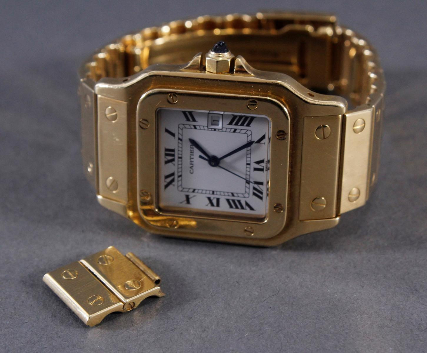 Cartier Herrenarmbanduhr Santos-7