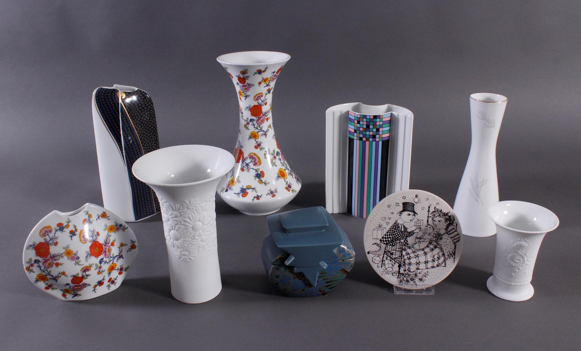 Porzellan Vasen und Zuckerbehälter