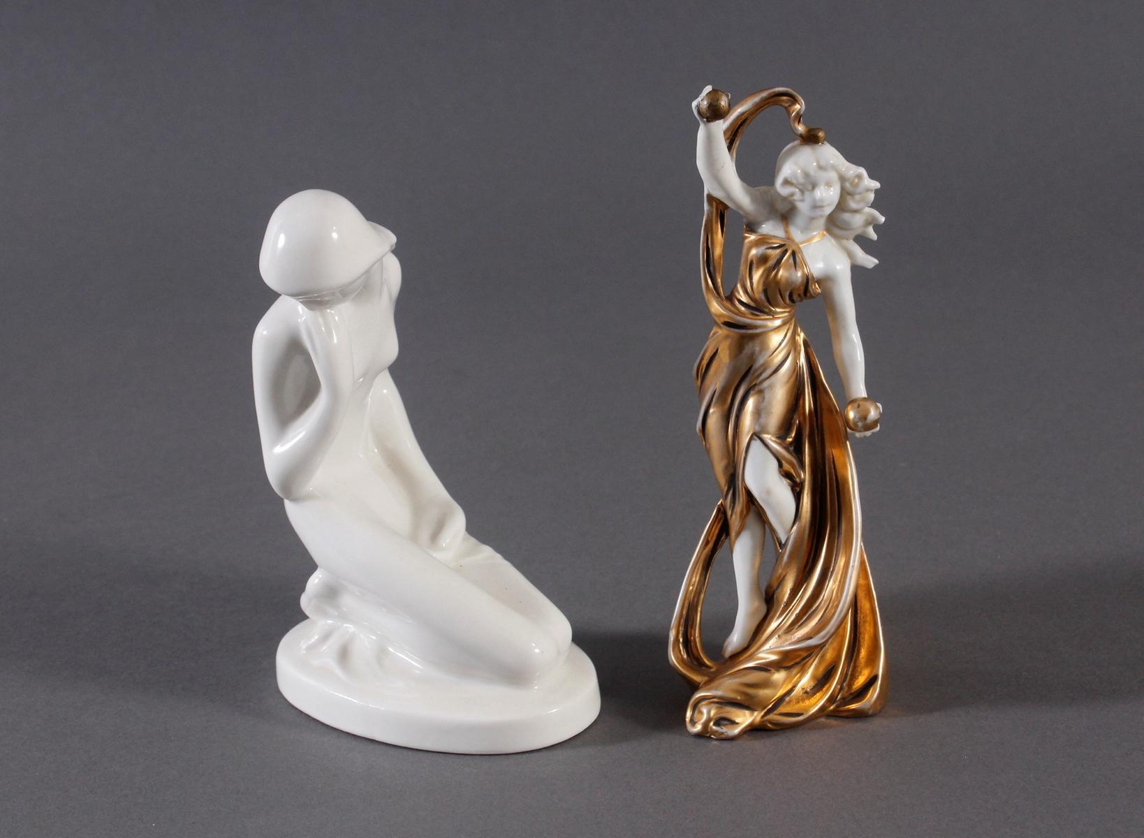 2 Porzellan Figuren