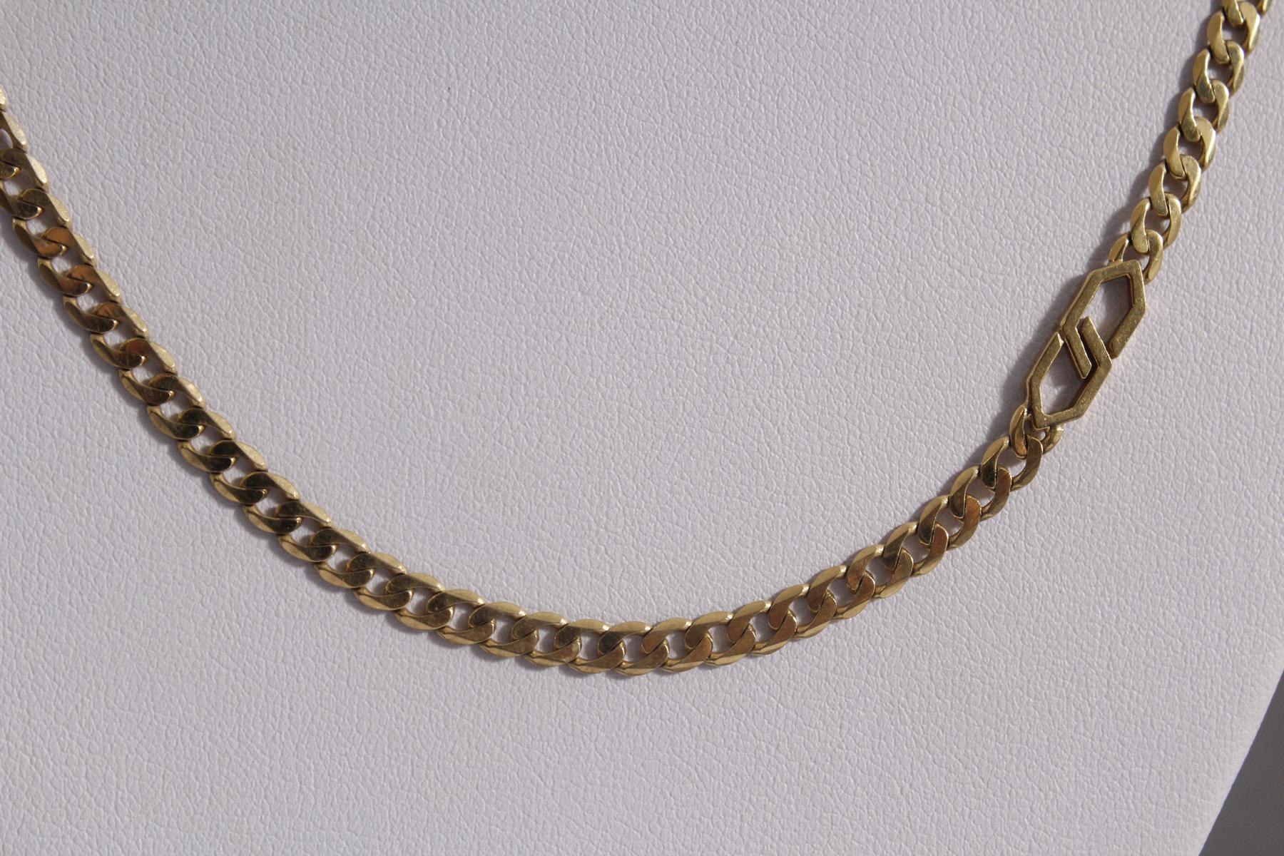 Halskette aus 8 Karat Gelbgold-2