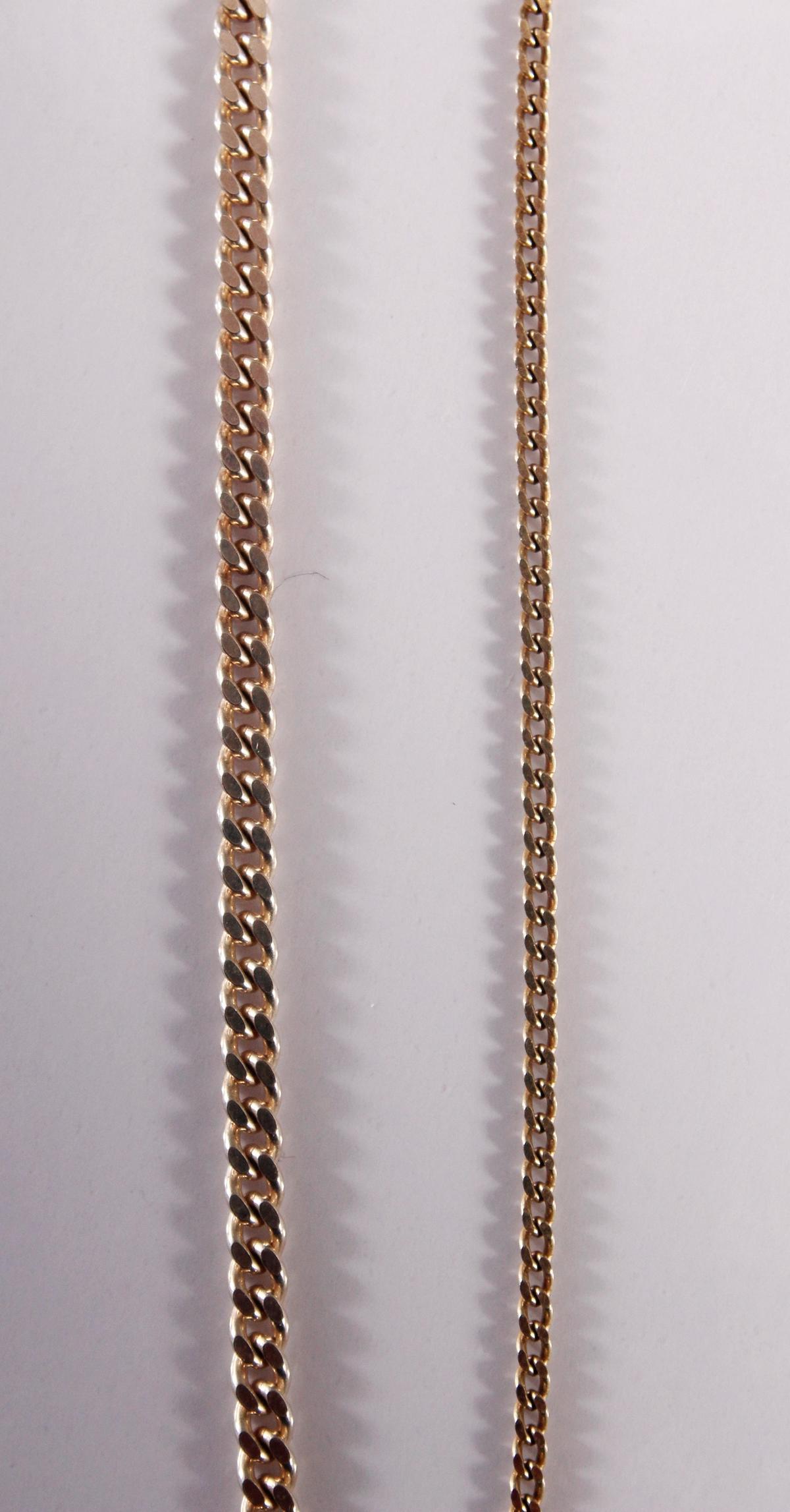 2 Halsketten aus Silber-2