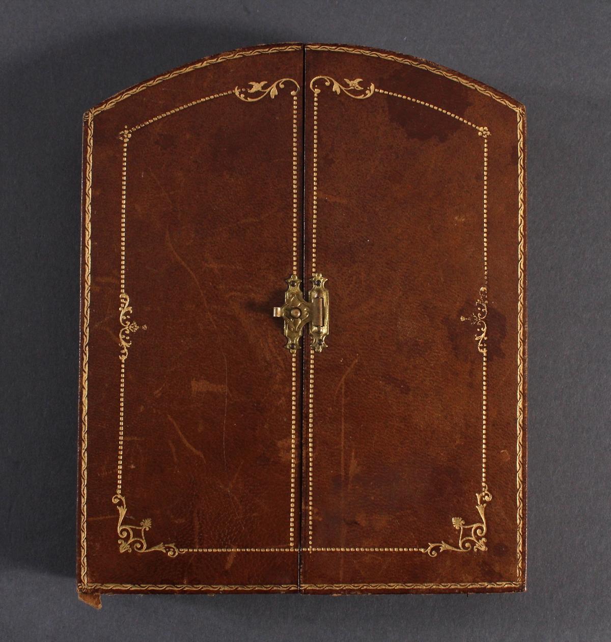 Bronzemedaille im Etui, Frankreich um 1900, signiert Ruffony, Virgo Maria-4