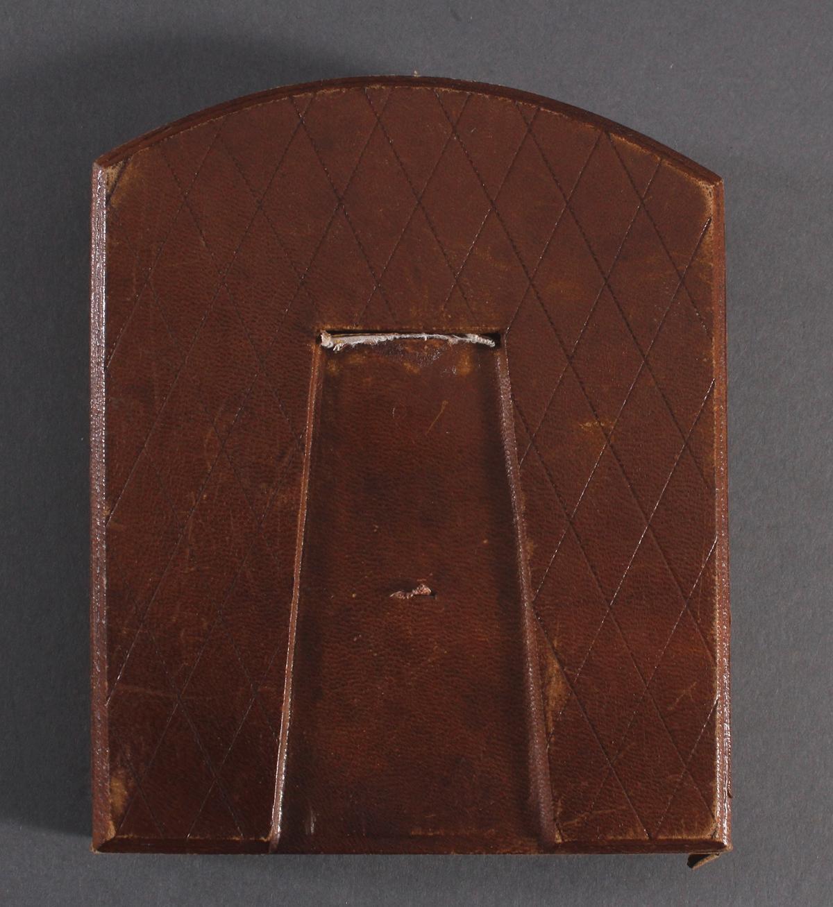 Bronzemedaille im Etui, Frankreich um 1900, signiert Ruffony, Virgo Maria-5