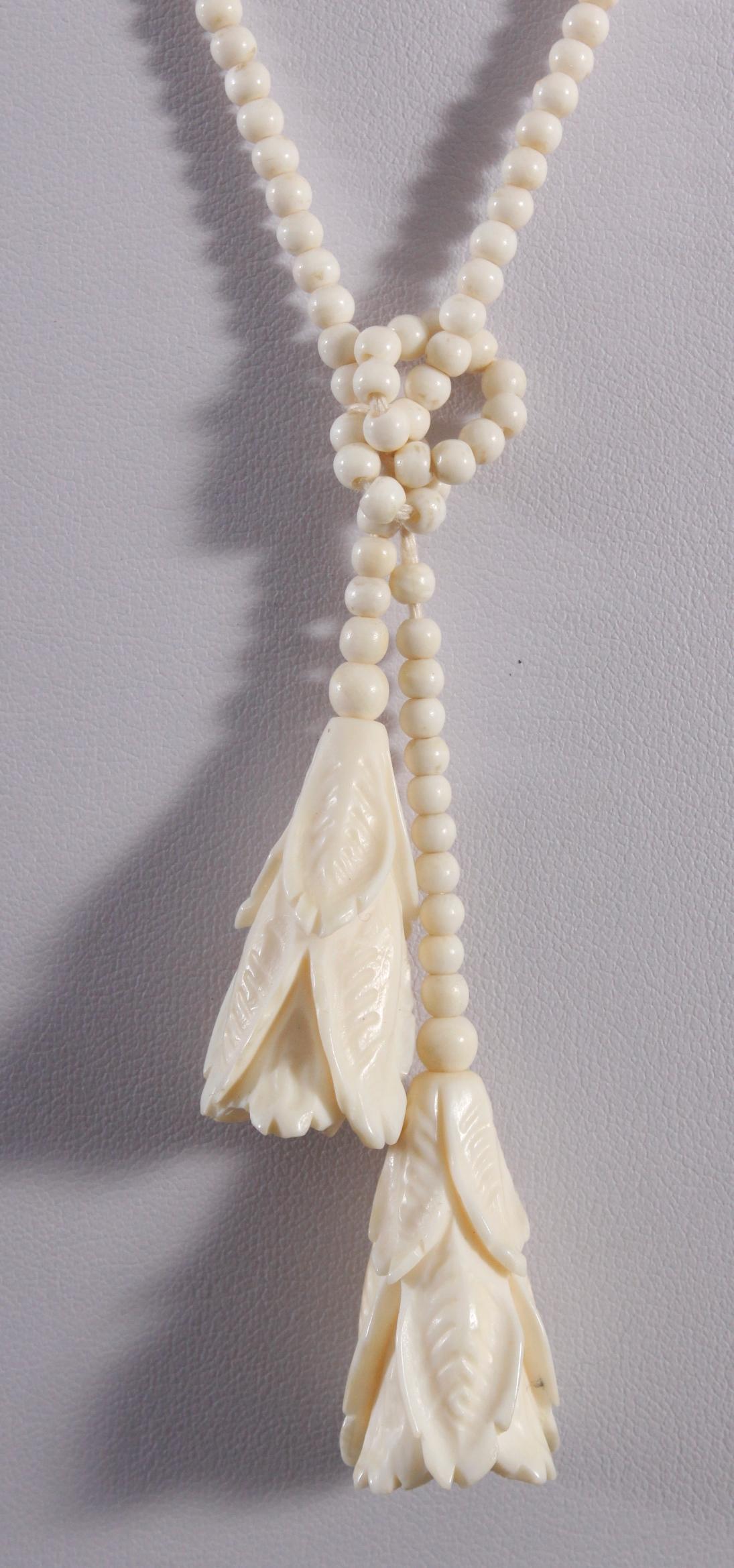 Antike Halskette aus Elfenbein-2