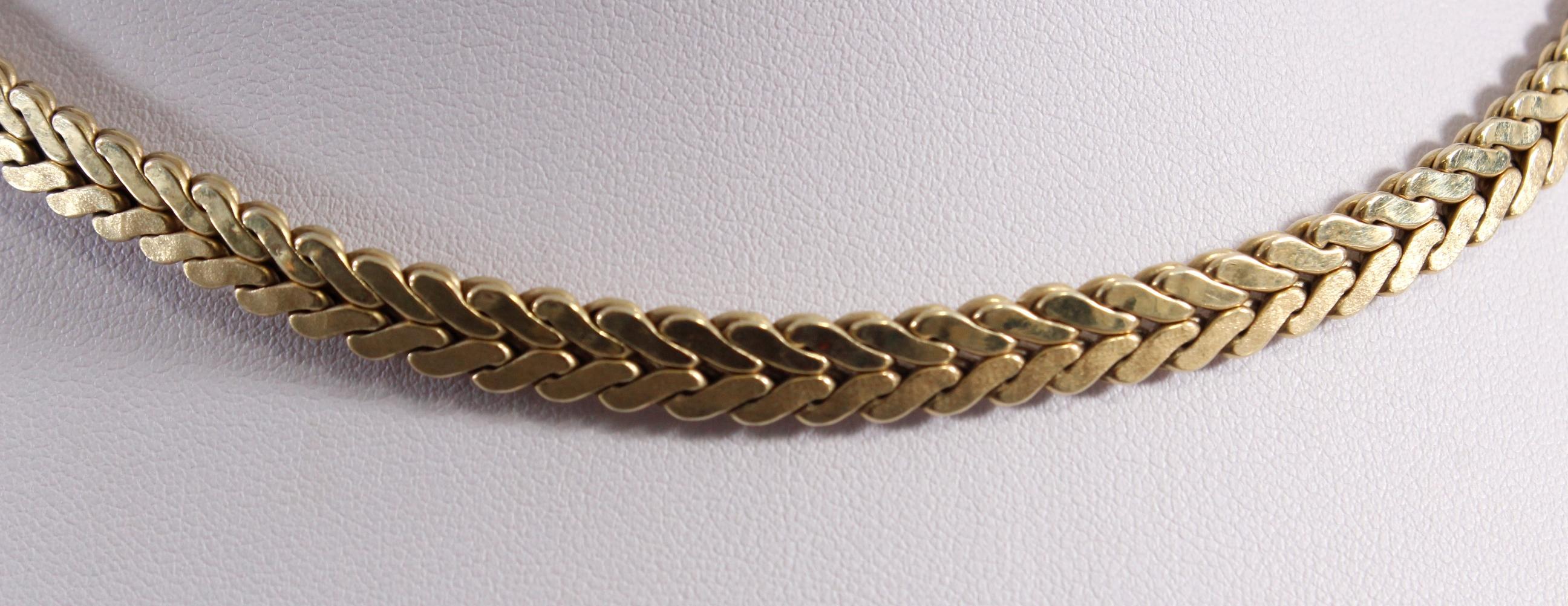 Halskette aus 14 Karat Gelbgold-2