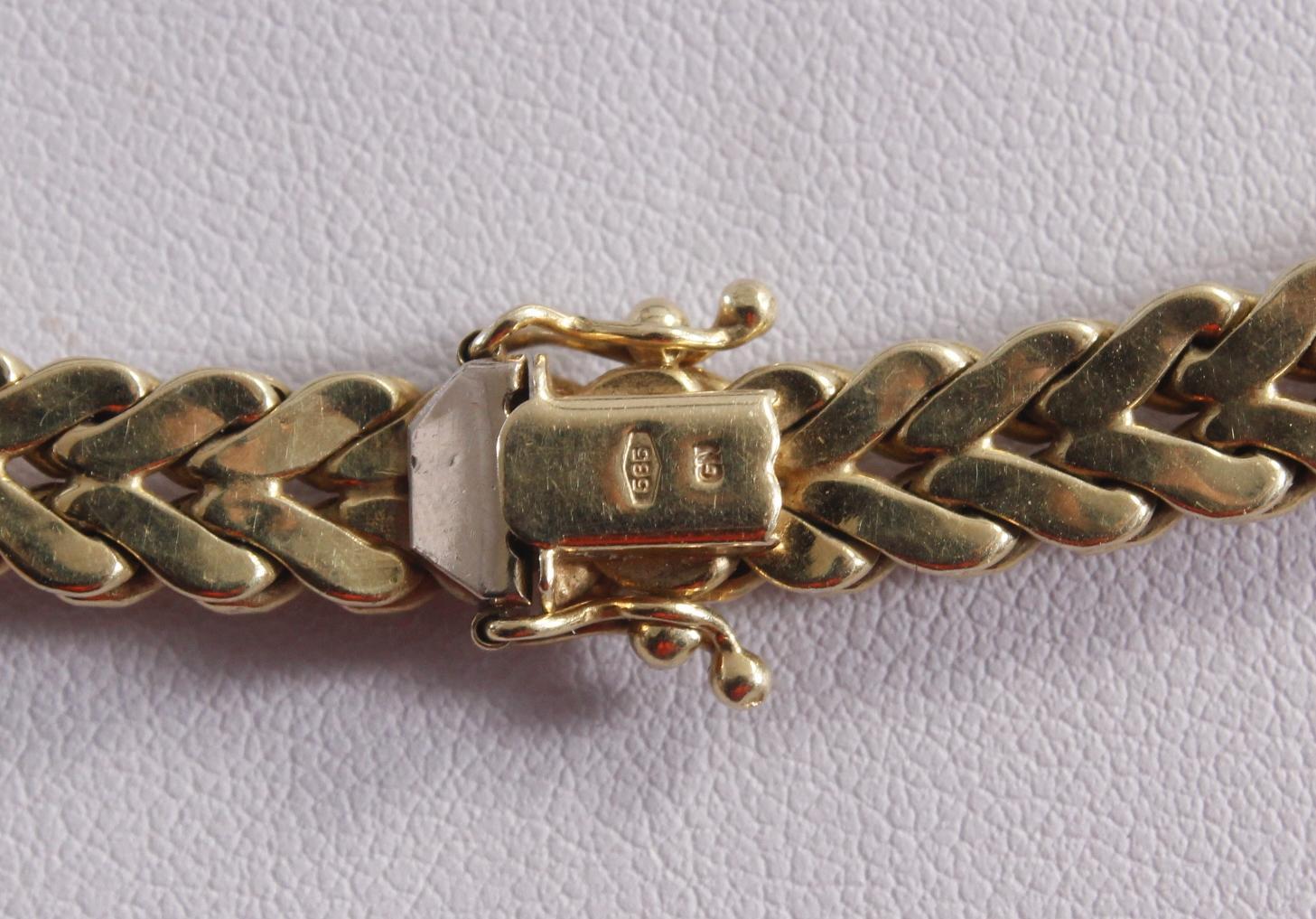 Halskette aus 14 Karat Gelbgold-3