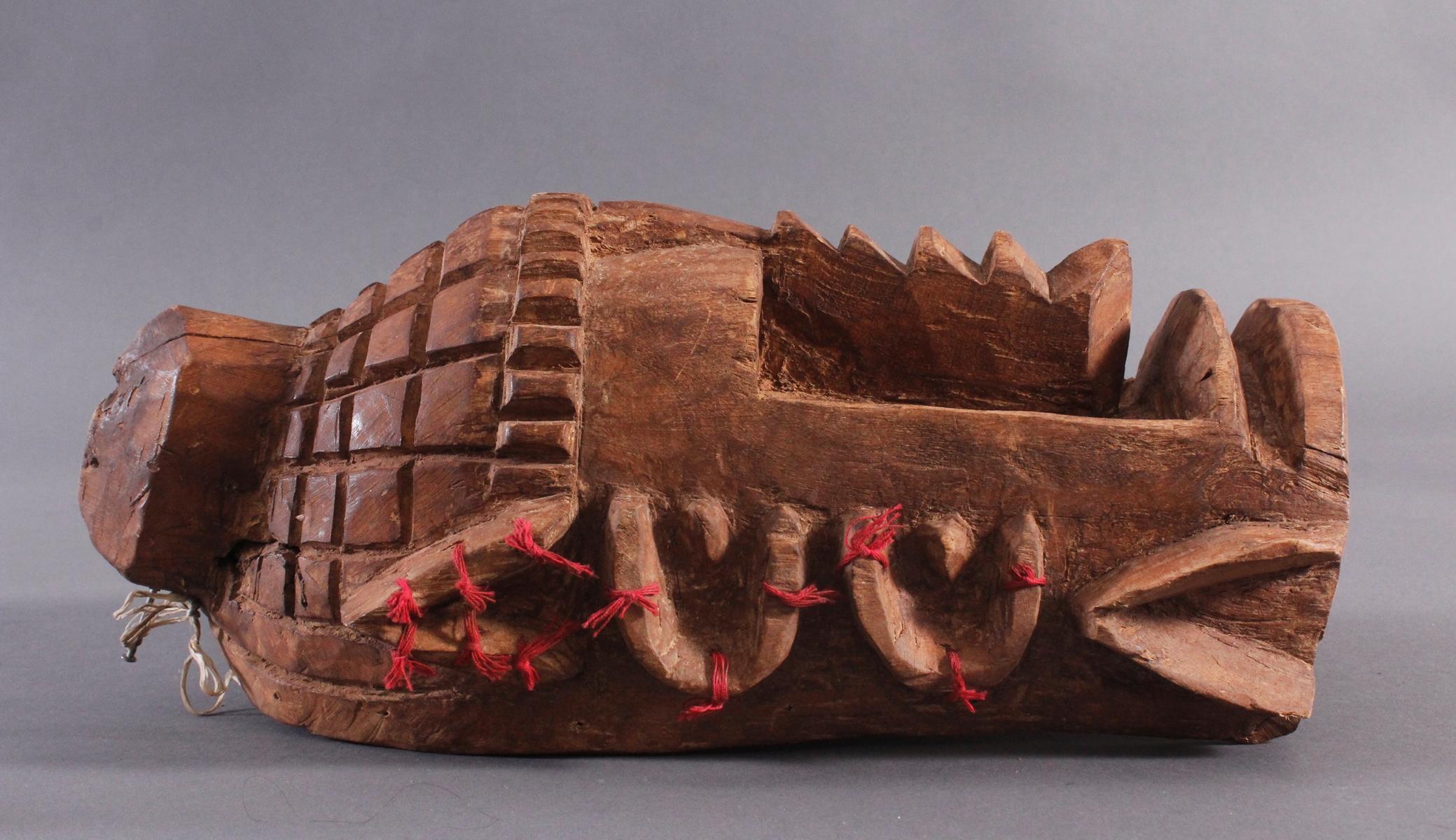Antike Wandmaske, Mambila Kamerun 1. Hälfte 20. Jh.-2
