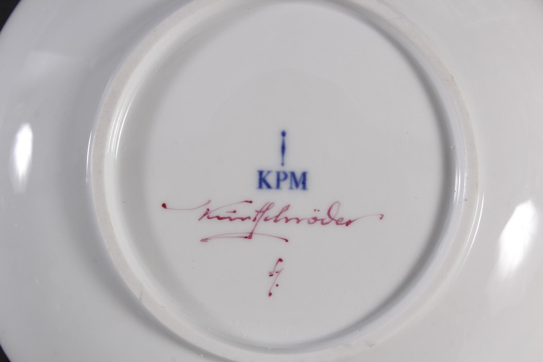 Cabarettschale, KPM Berlin, signiert Kurt Schröder-3
