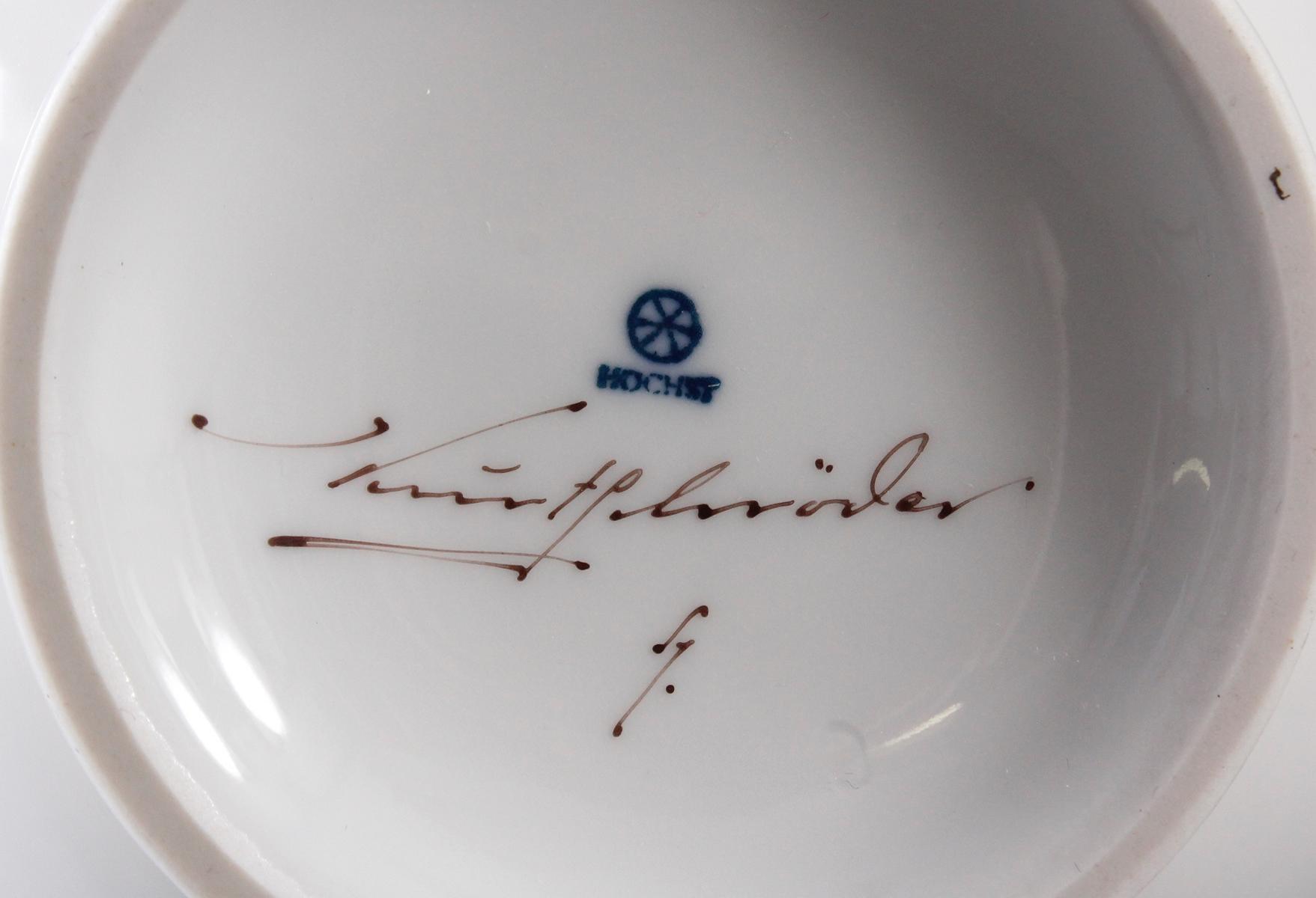 Vase, Höchster Porzellanmanufaktur, signiert Kurt Schröder (1927 – 2008)-5