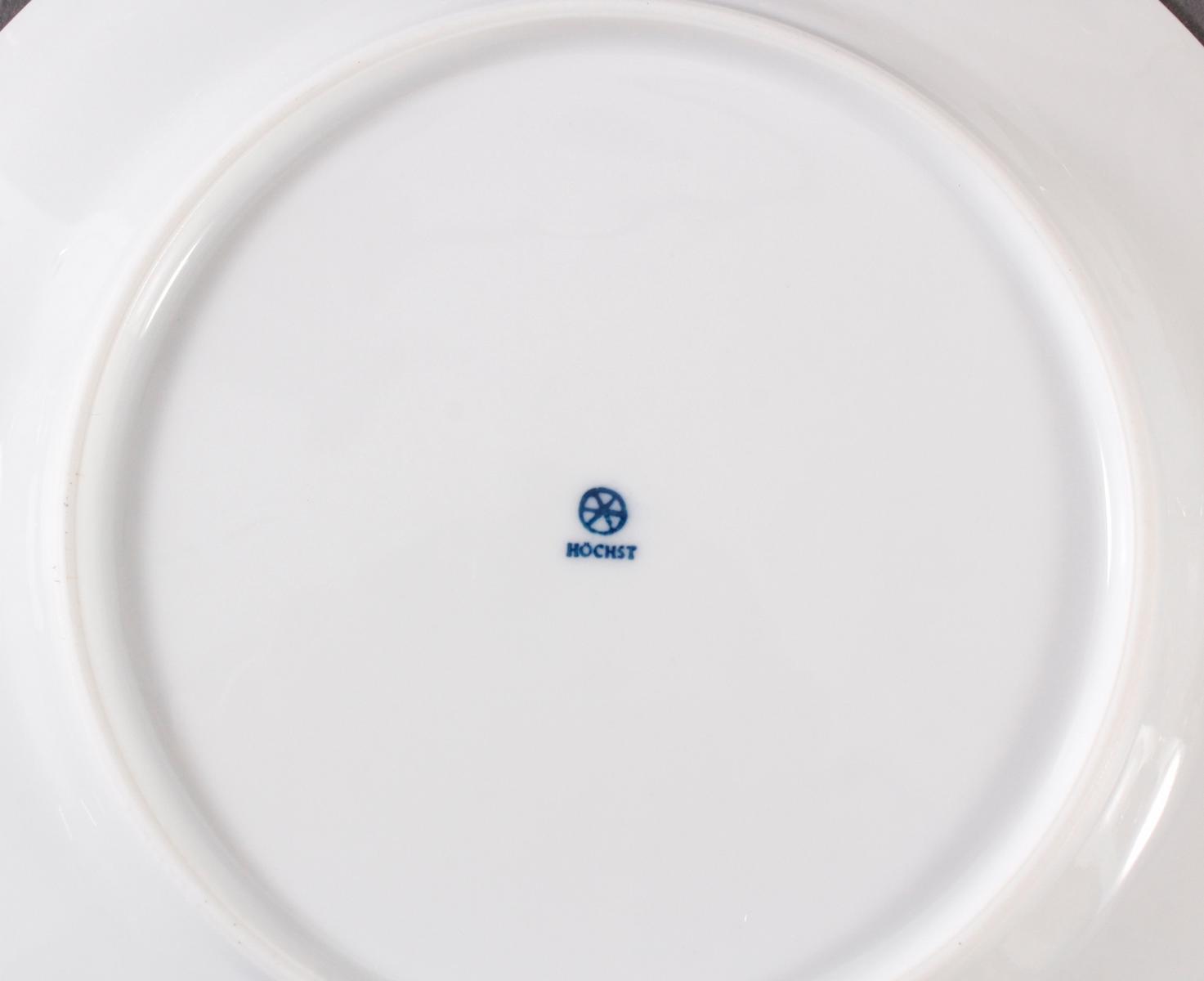 5 Teller, Höchster Porzellanmanufaktur-5
