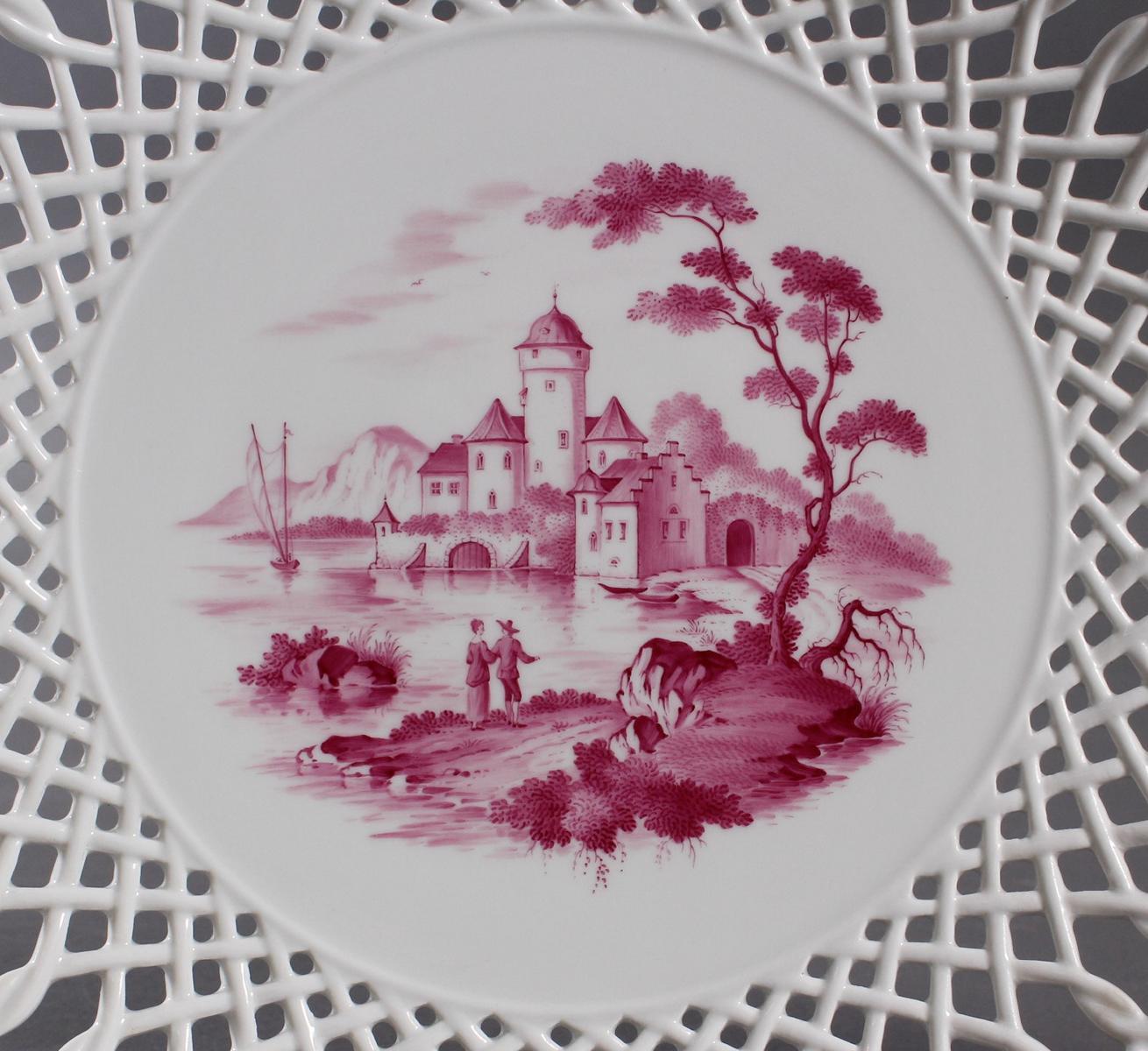 2 Prunkteller, Höchster Porzellanmanufaktur-2