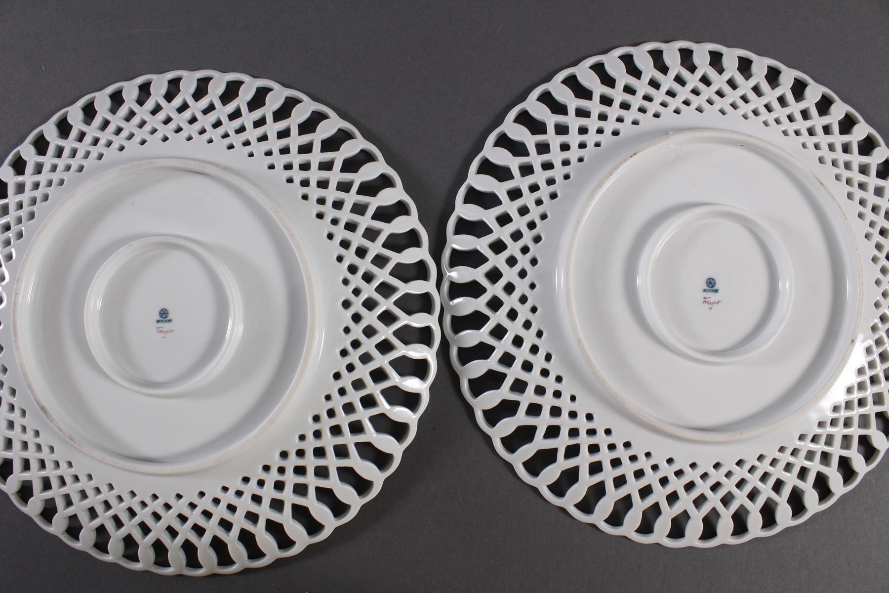2 Prunkteller, Höchster Porzellanmanufaktur-4