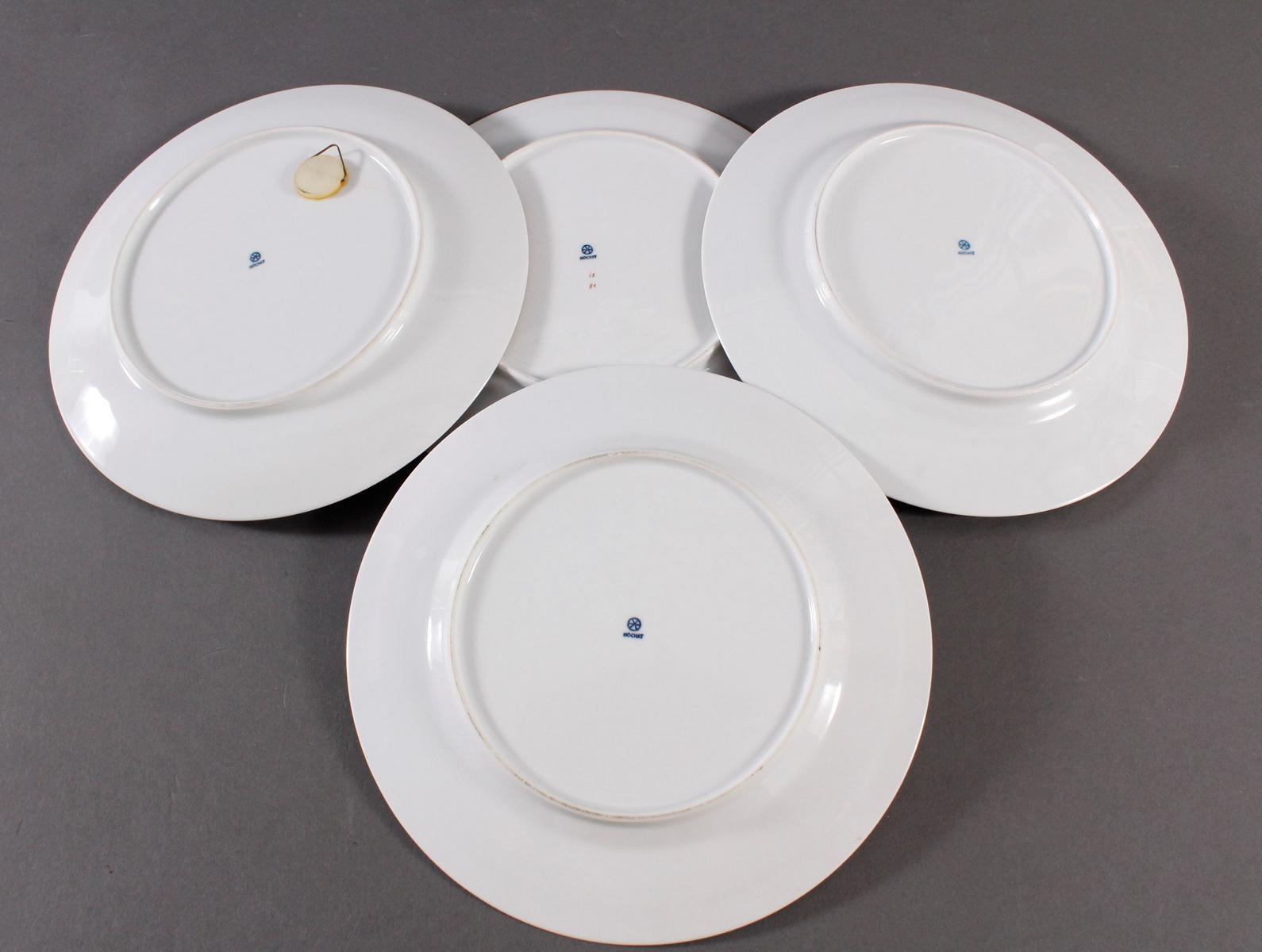 4 Teller, Höchster Porzellanmanufaktur-6