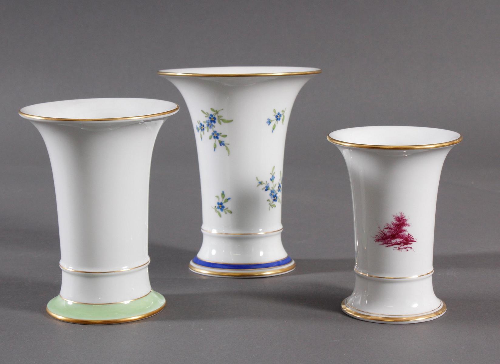 3 Vasen Höchst, signiert Kurt Schröder-2