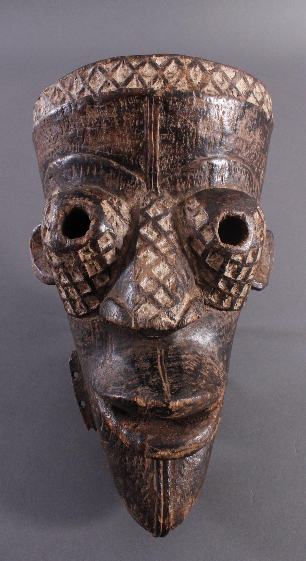 Antike Maske, Yaure Elfenbeinküste 1. Hälfte 20. Jh.