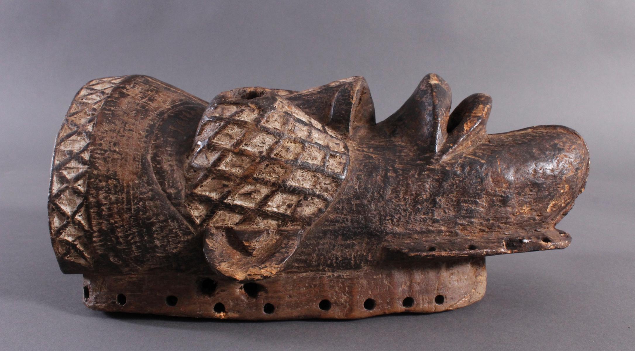 Antike Maske, Yaure Elfenbeinküste 1. Hälfte 20. Jh.-2