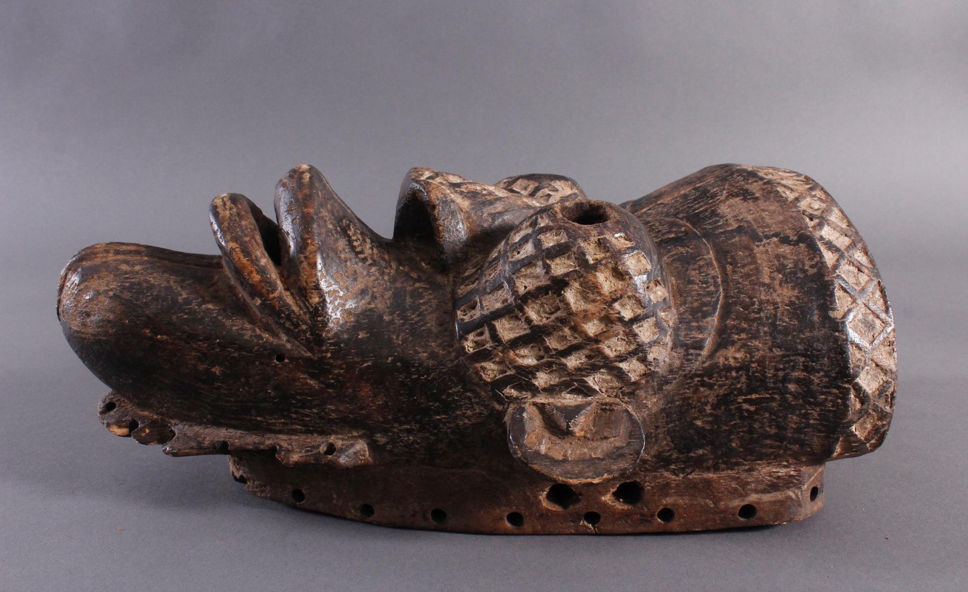 Antike Maske, Yaure Elfenbeinküste 1. Hälfte 20. Jh.-3