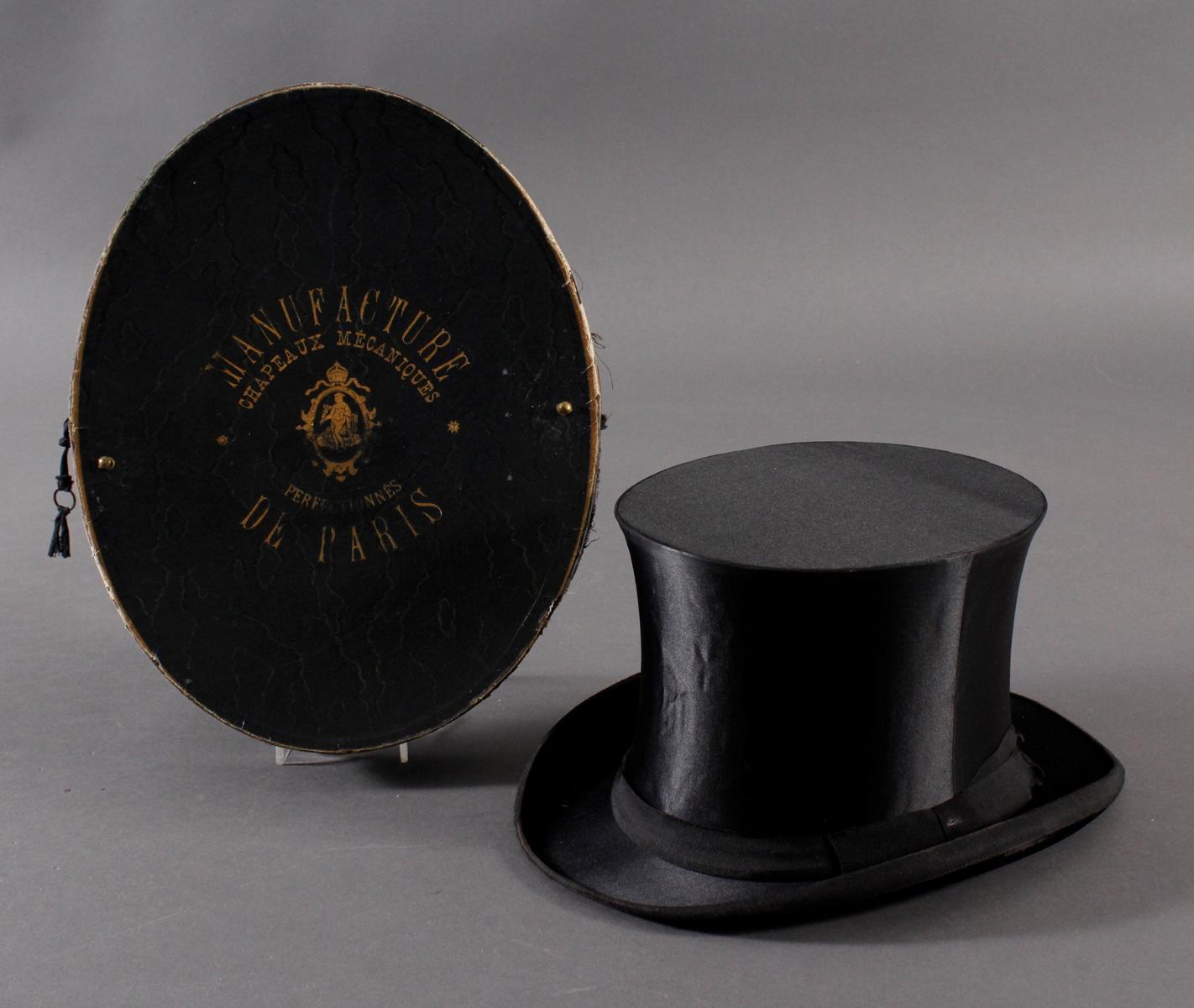 Chapeau Claque, Frankreich um 1900-3