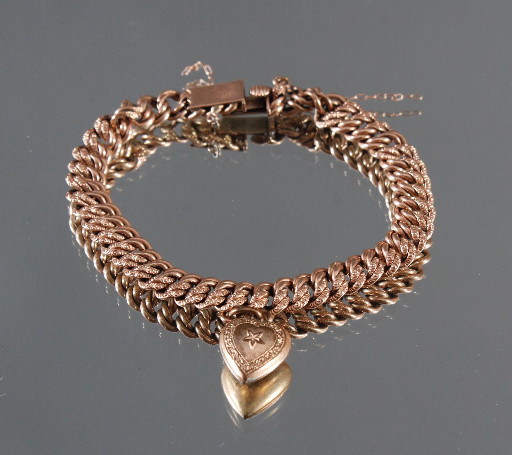 Antikes Armband mit Herzanhänger