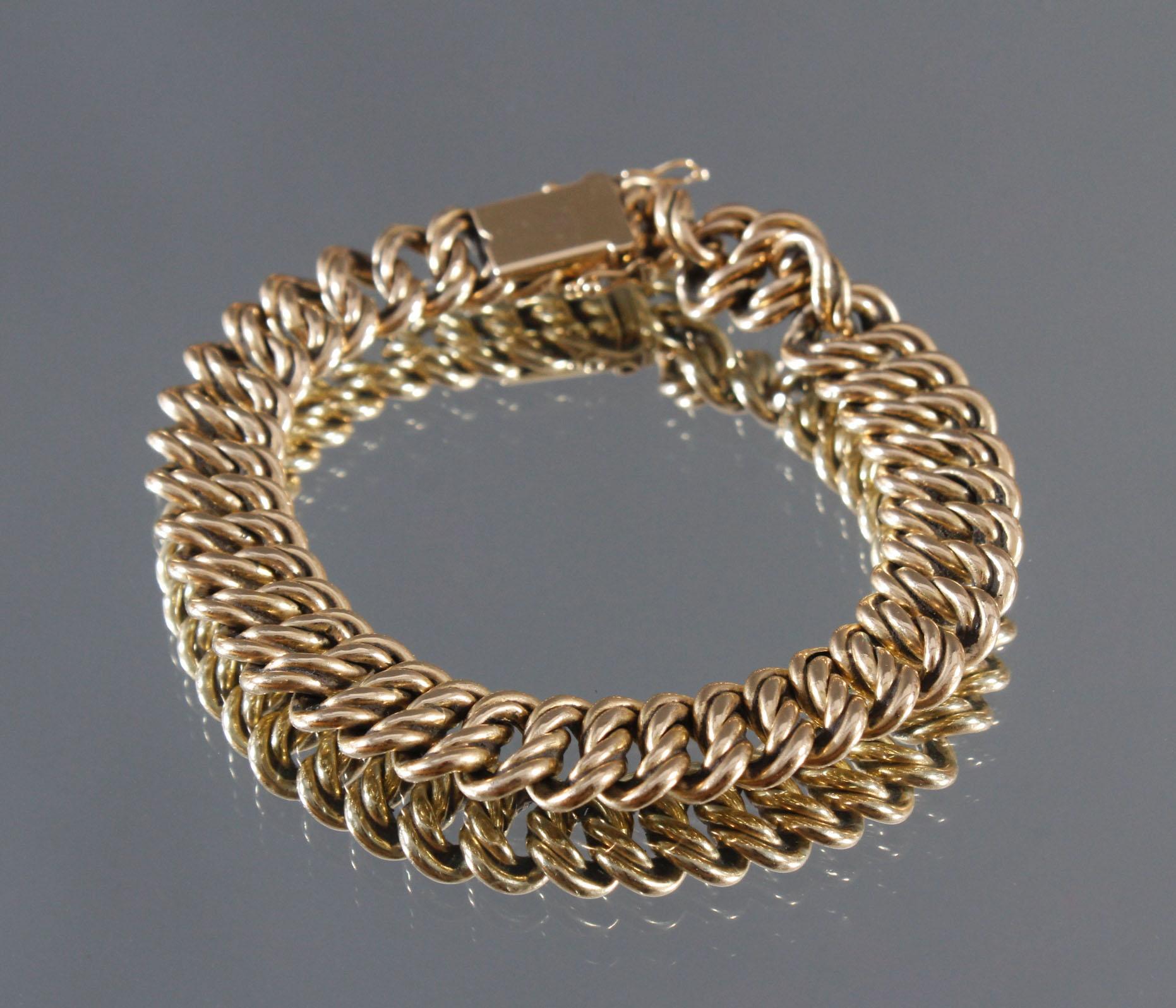 Damenarmband aus 14 Karat Gelbgold