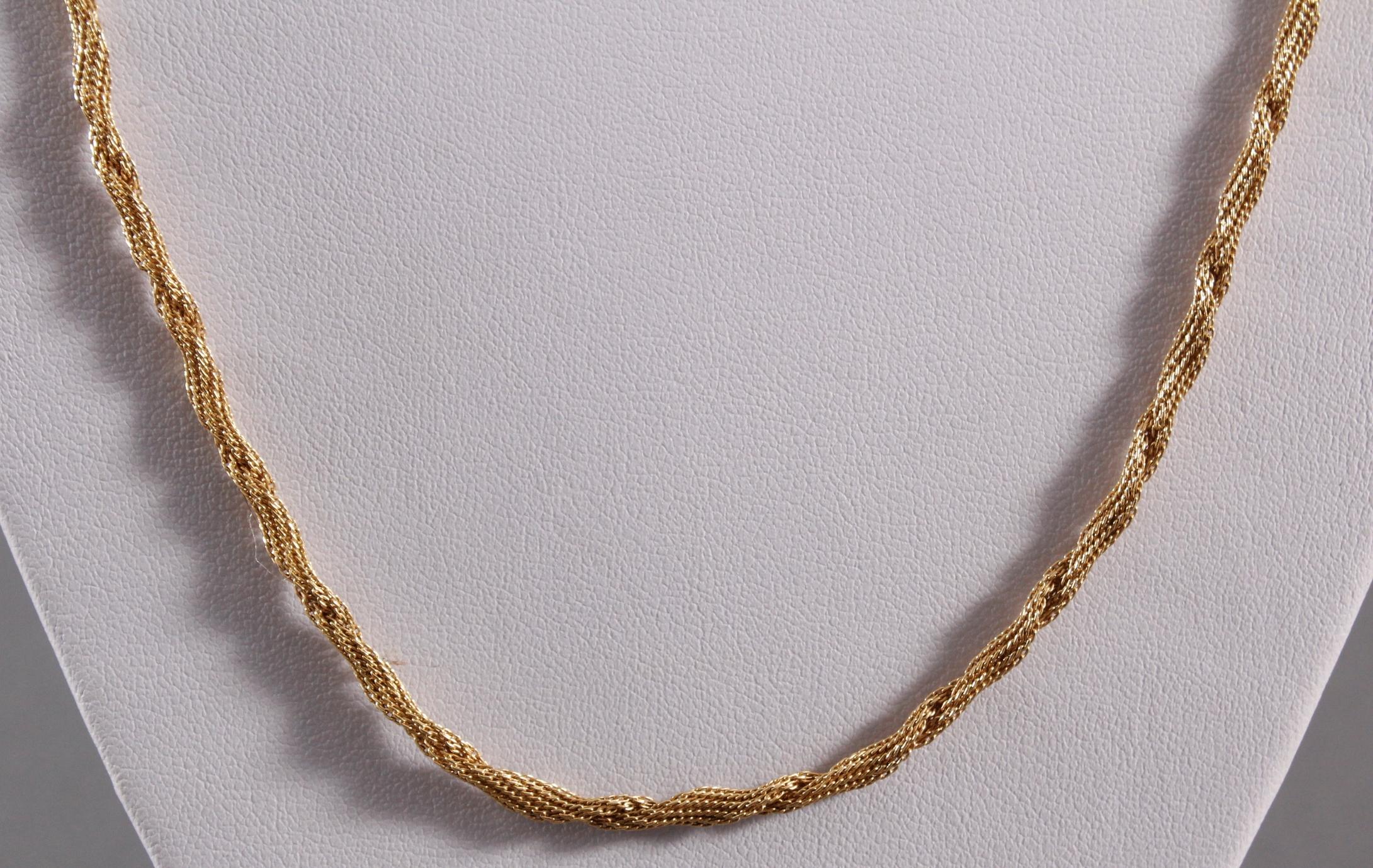 Halskette aus 18 Karat Gelbgold-2