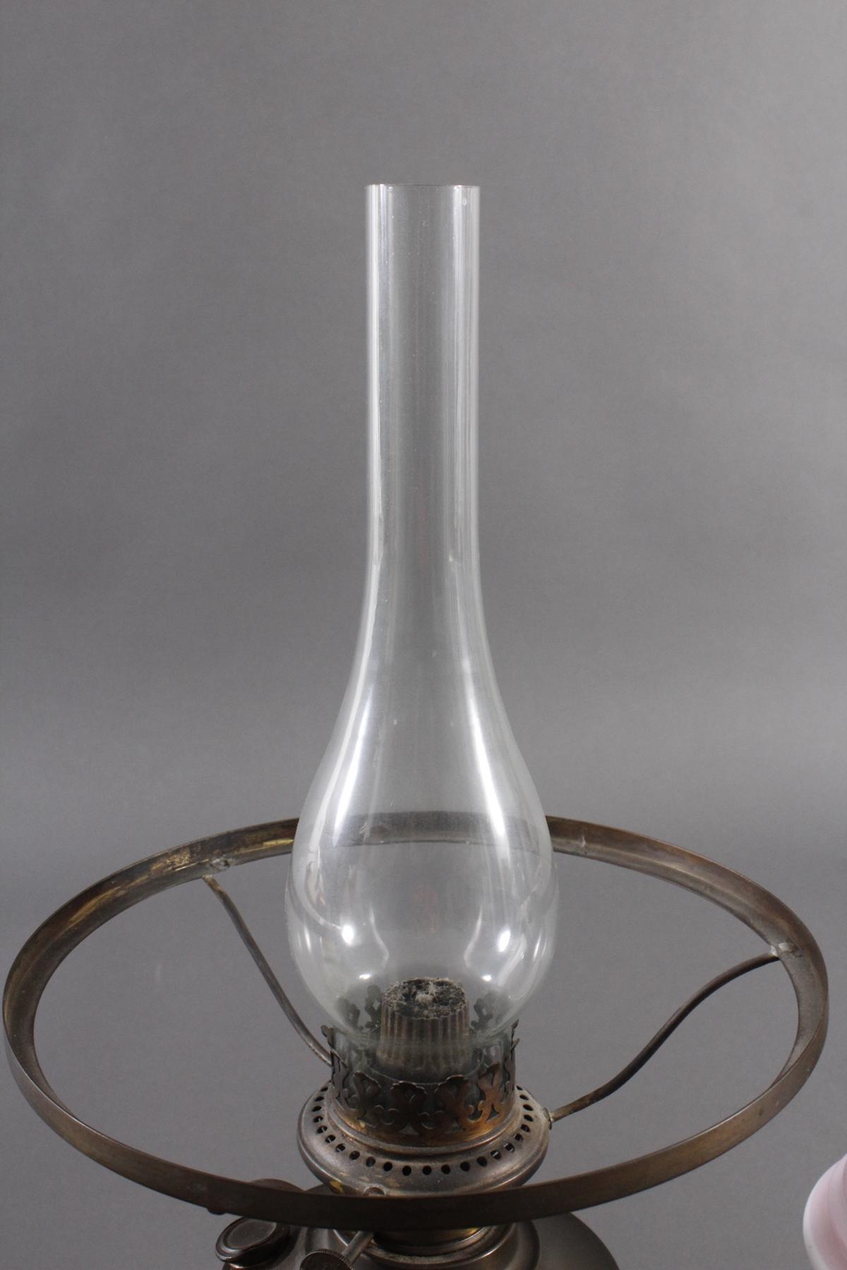 Zwei Petroleum Lampen um 1920-3