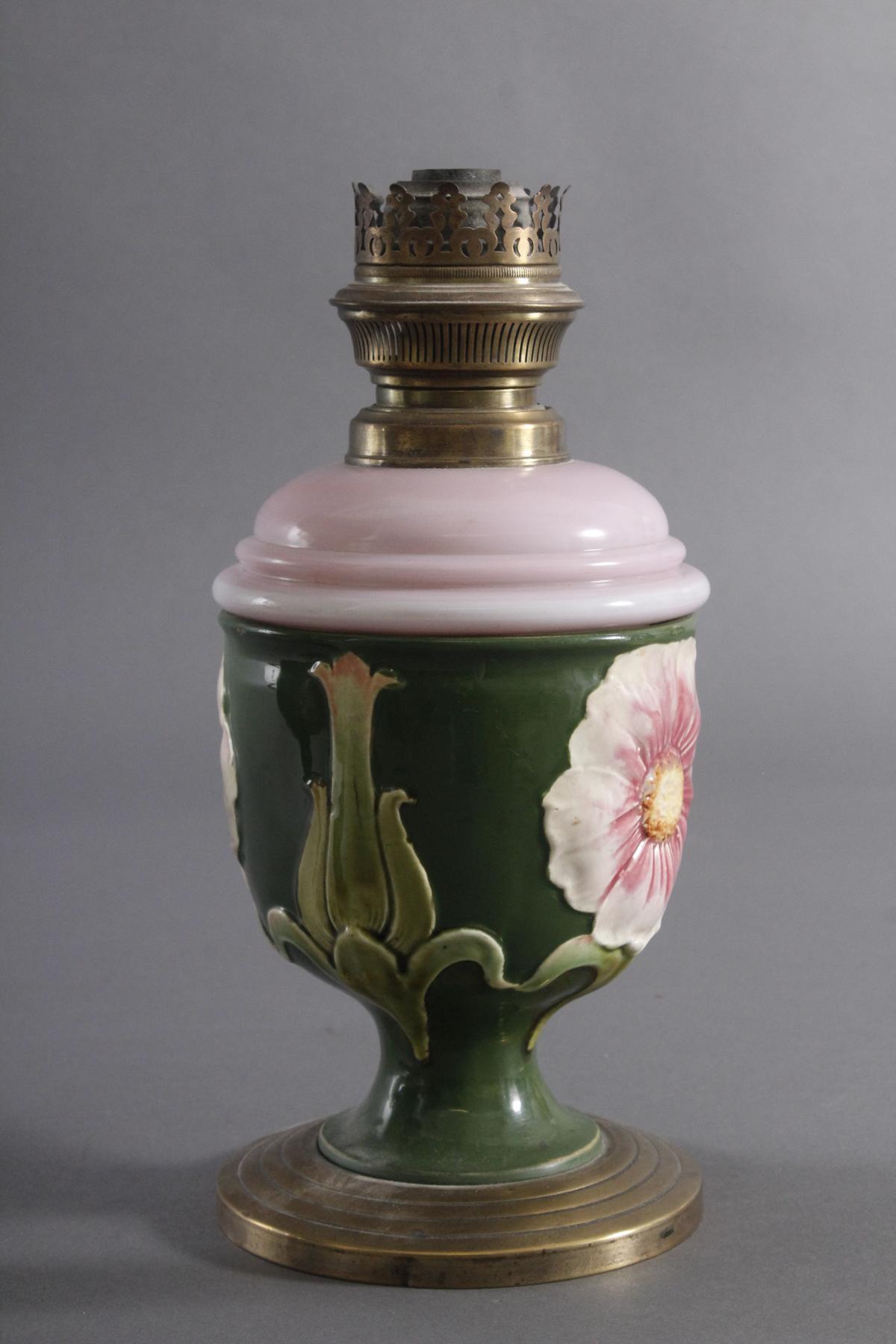 Zwei Petroleum Lampen um 1920-4