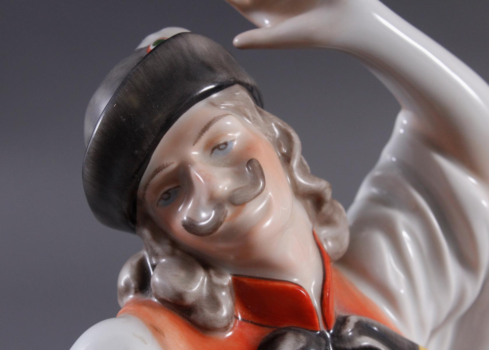 Herend-Figur, Ungarn, 'Ungarischer Tänzer in Tracht'-6