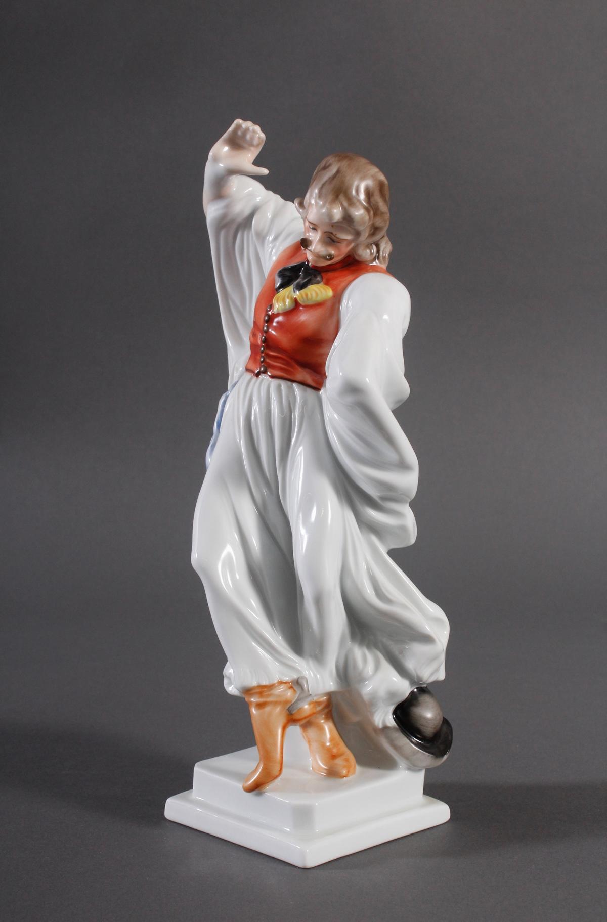 Herend-Figur, Ungarn 'Ungarischer Tänzer in Tracht'-3