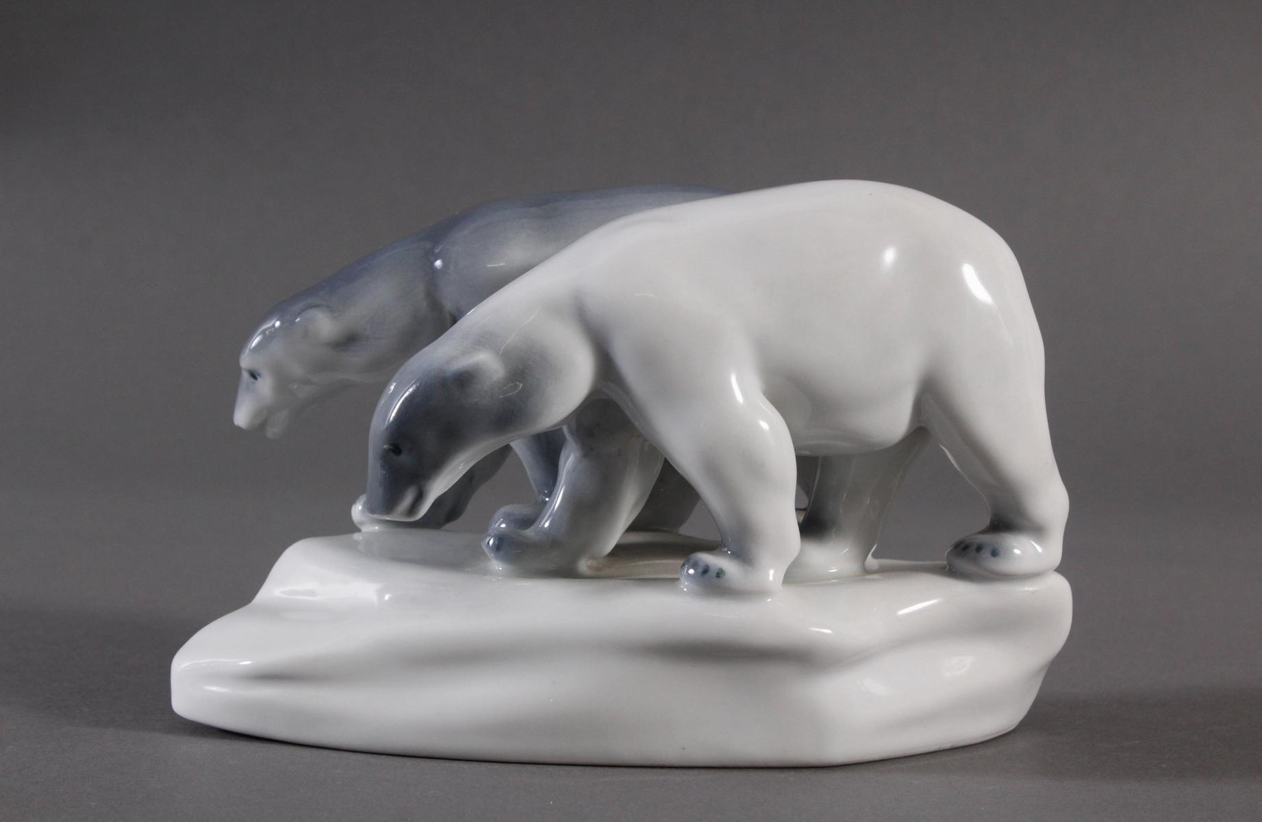 Porzellanfigur, Ungarn, 'Eisbären'-2