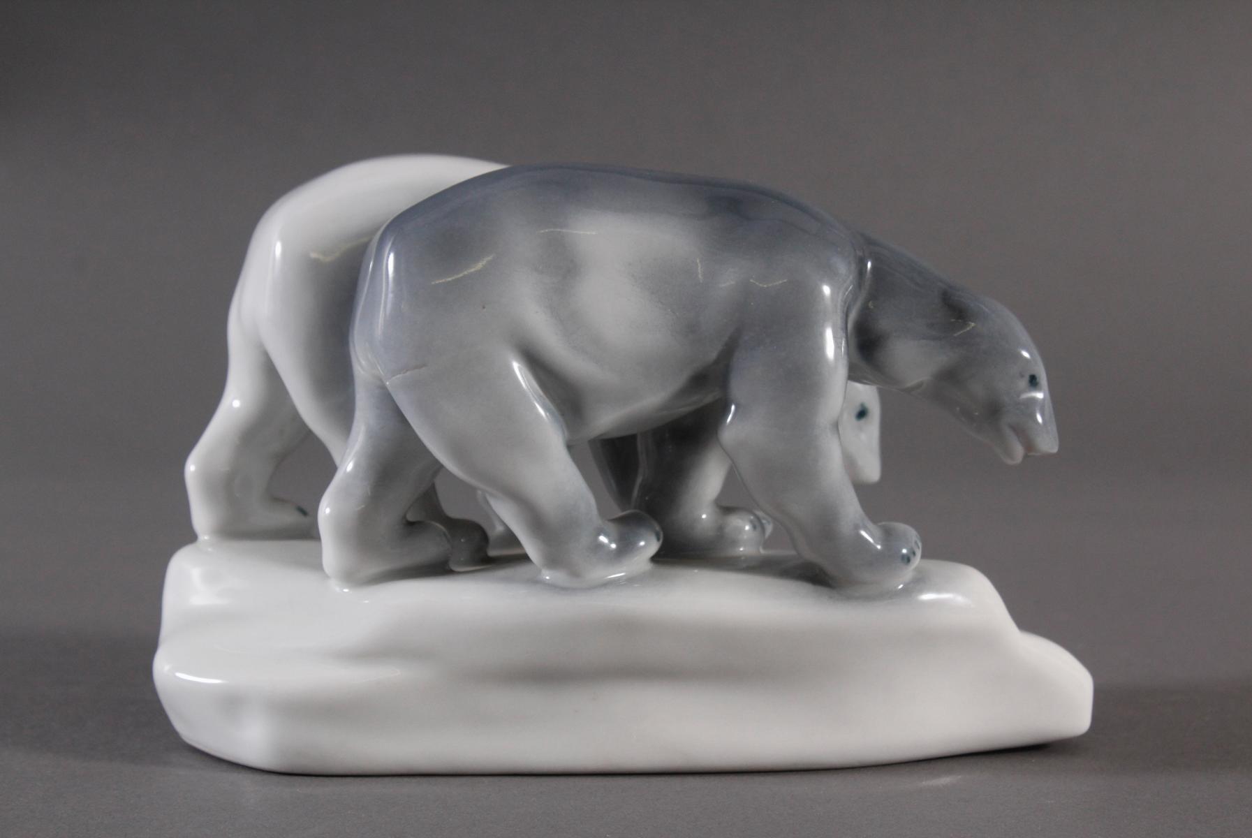 Porzellanfigur, Ungarn, 'Eisbären'-5