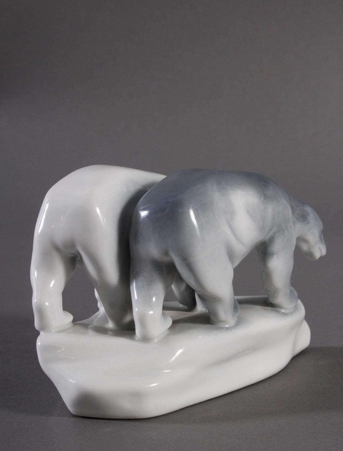 Porzellanfigur, Ungarn, 'Eisbären'-6