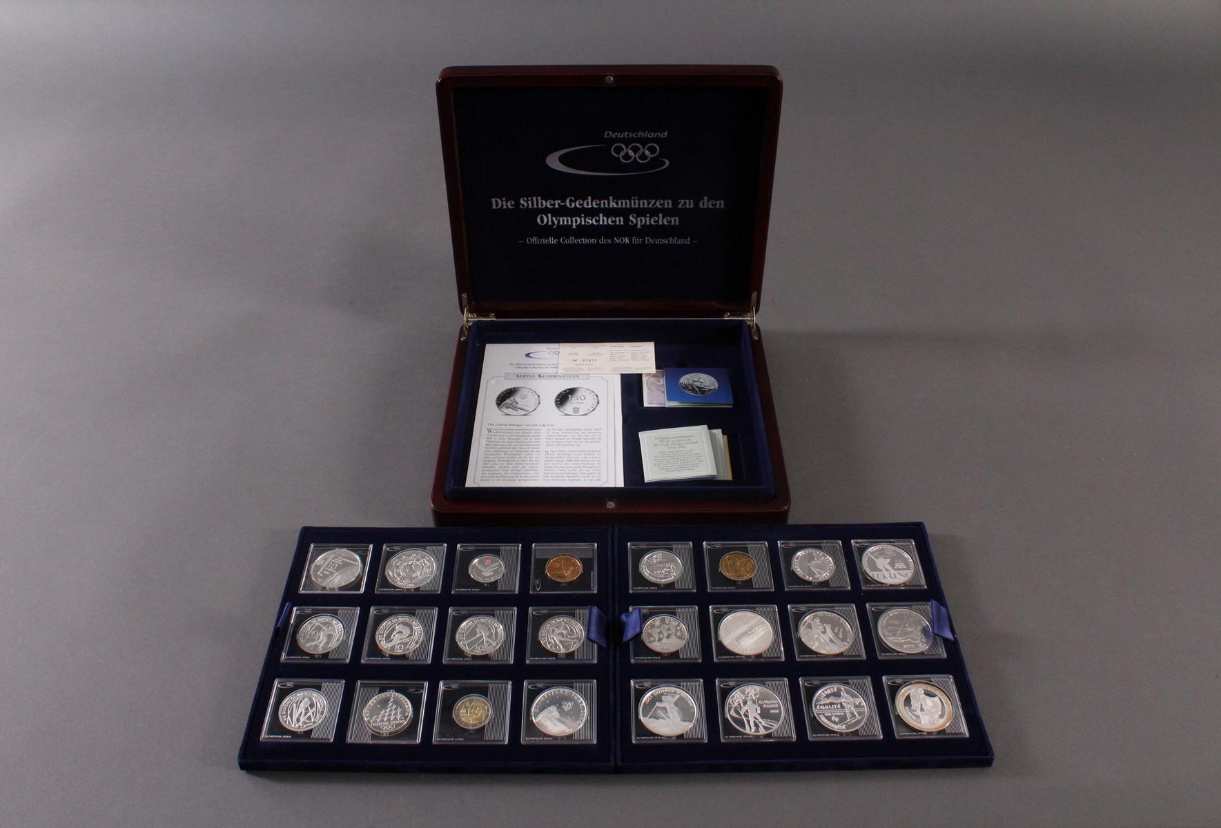 Die Silbergedenkmünzen zu den Olympischen Spielen