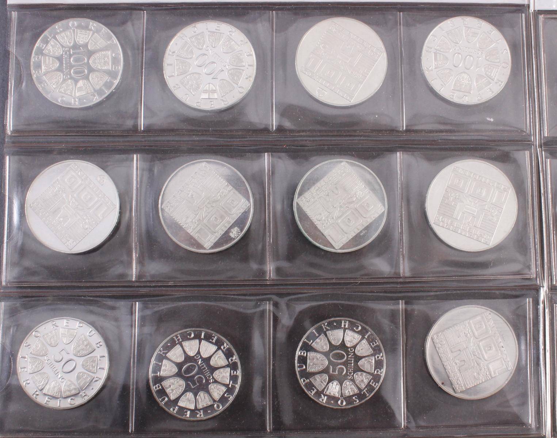 Schilling Münzen, u.a. 100, 50 und 5 Schilling-2