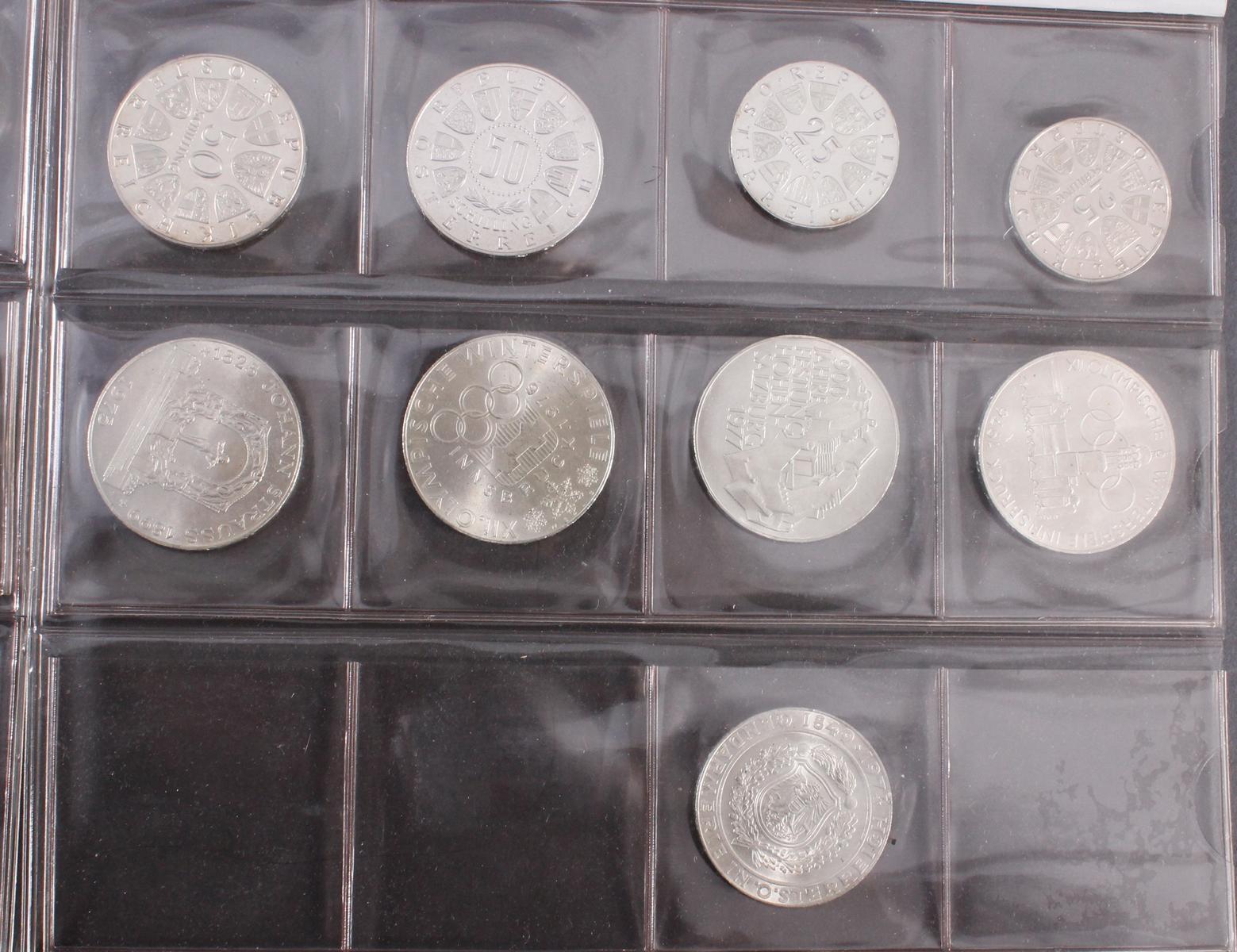 Schilling Münzen, u.a. 100, 50 und 5 Schilling-3