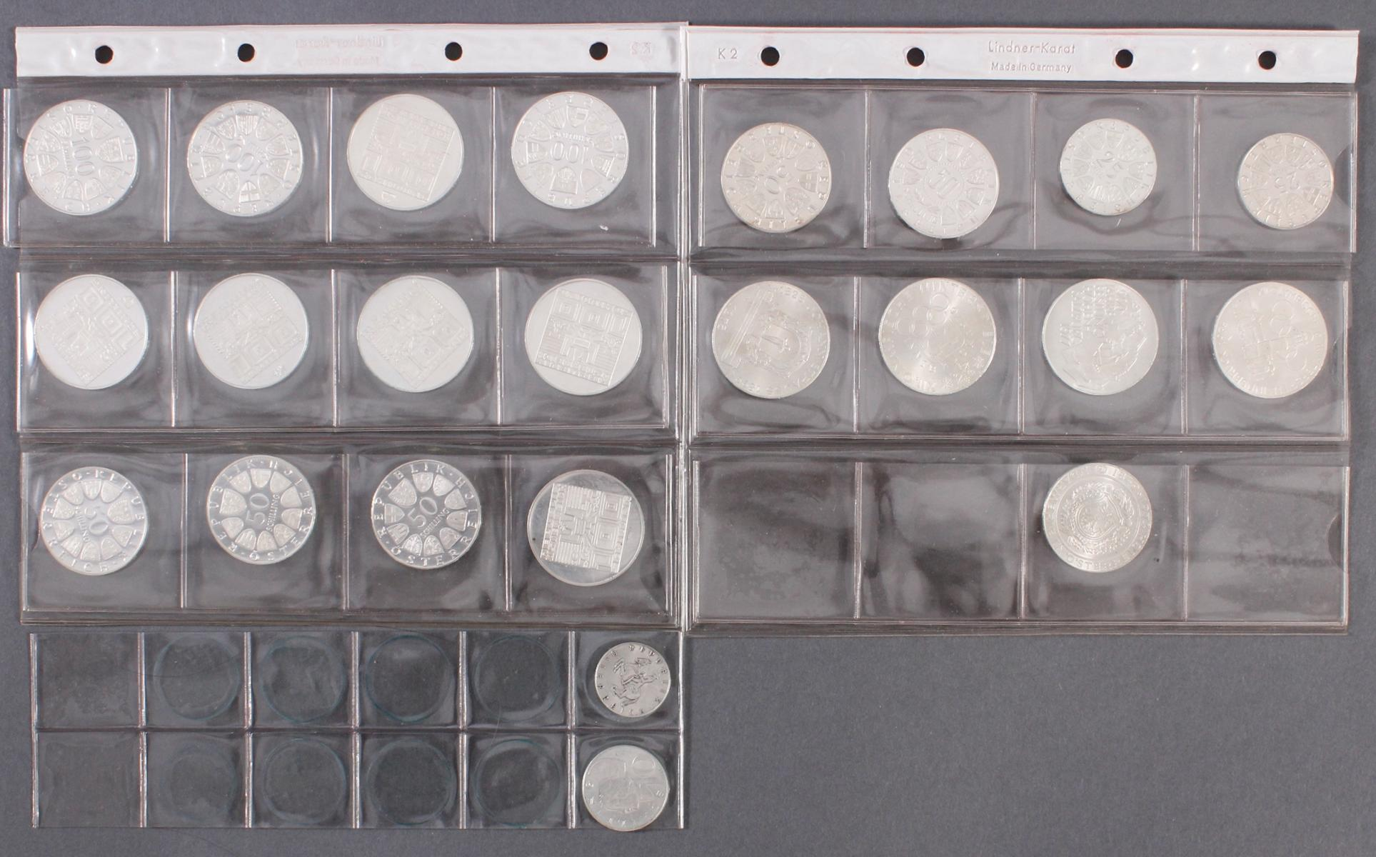 Schilling Münzen, u.a. 100, 50 und 5 Schilling-4