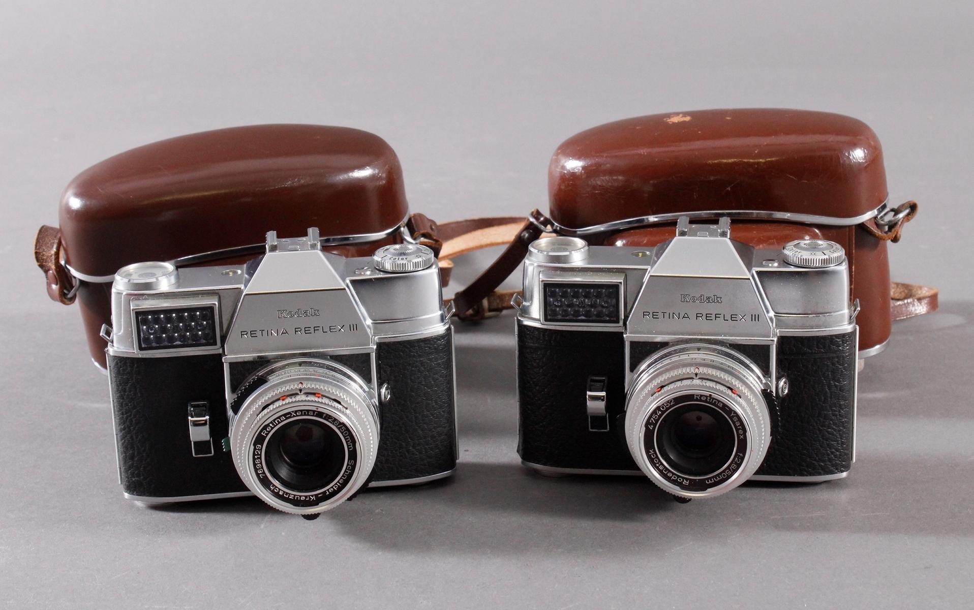 Zwei Fotoapparate/Kameras, Kodak