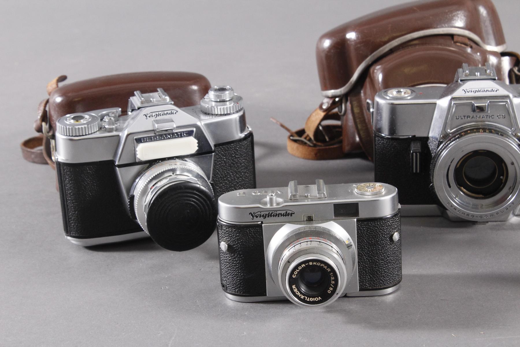 Fünf Fotoapparate/ Kameras, Voigtländer-2