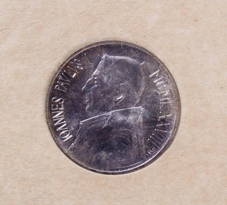 Vatikan Kursmünzensatz 2006 und 1000 Lire 1978-2