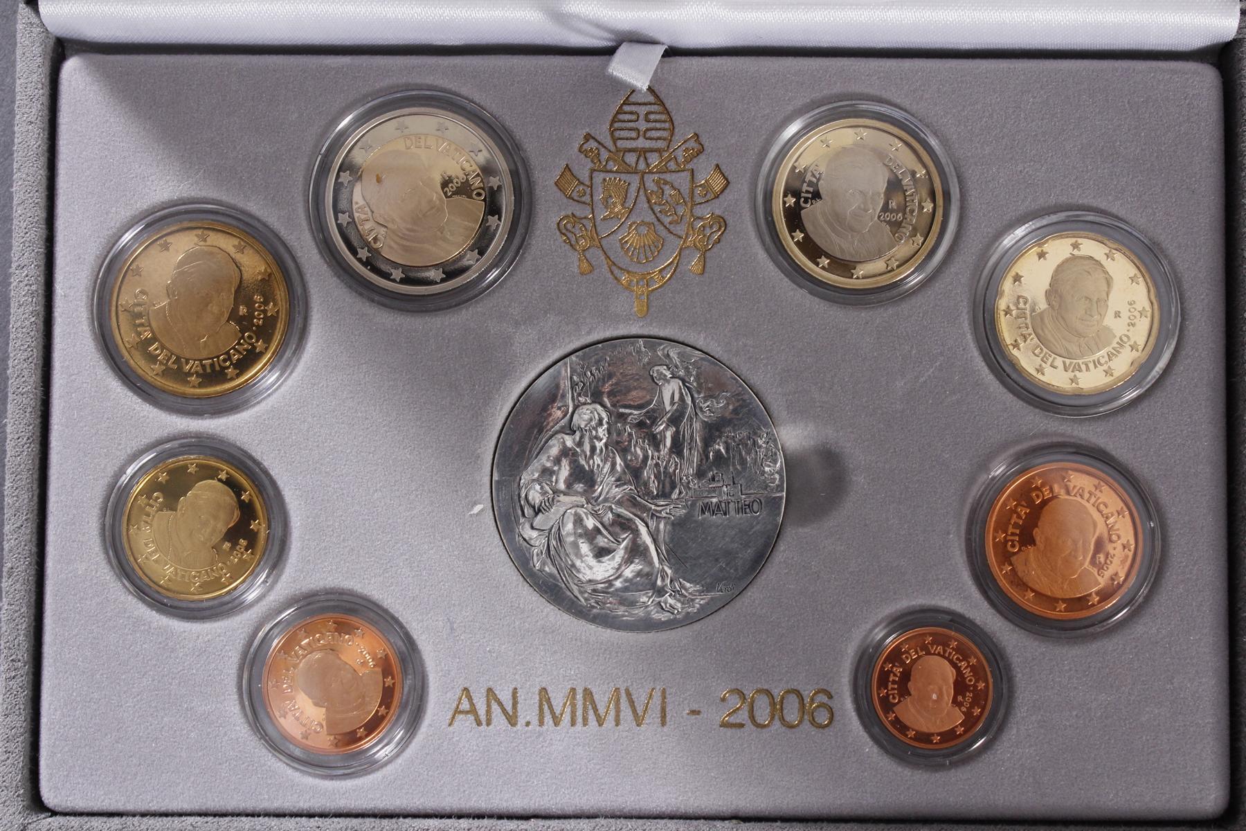 Vatikan Kursmünzensatz 2006 und 1000 Lire 1978-3