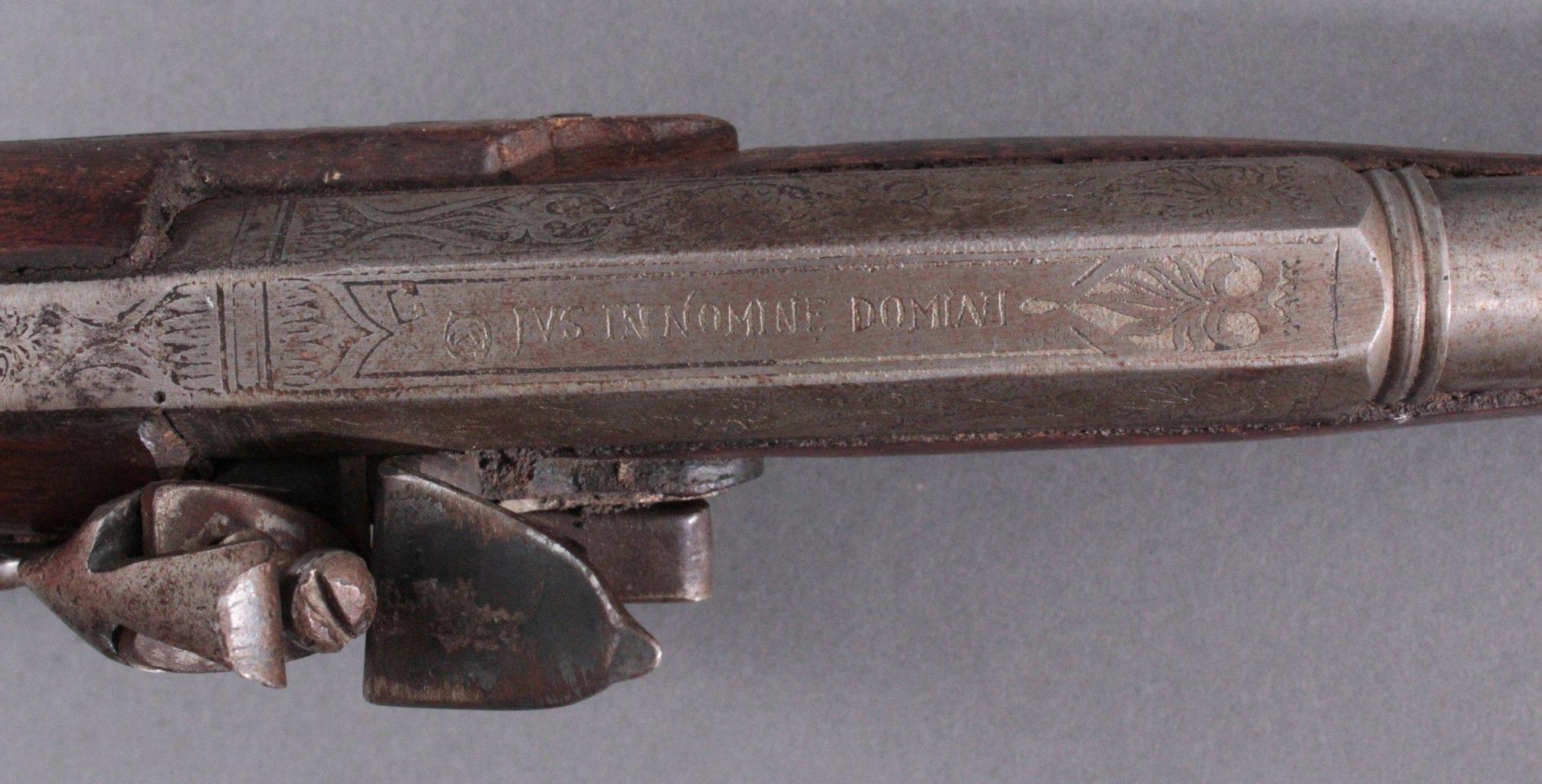 Steinschlosspistole 18. Jh.-3